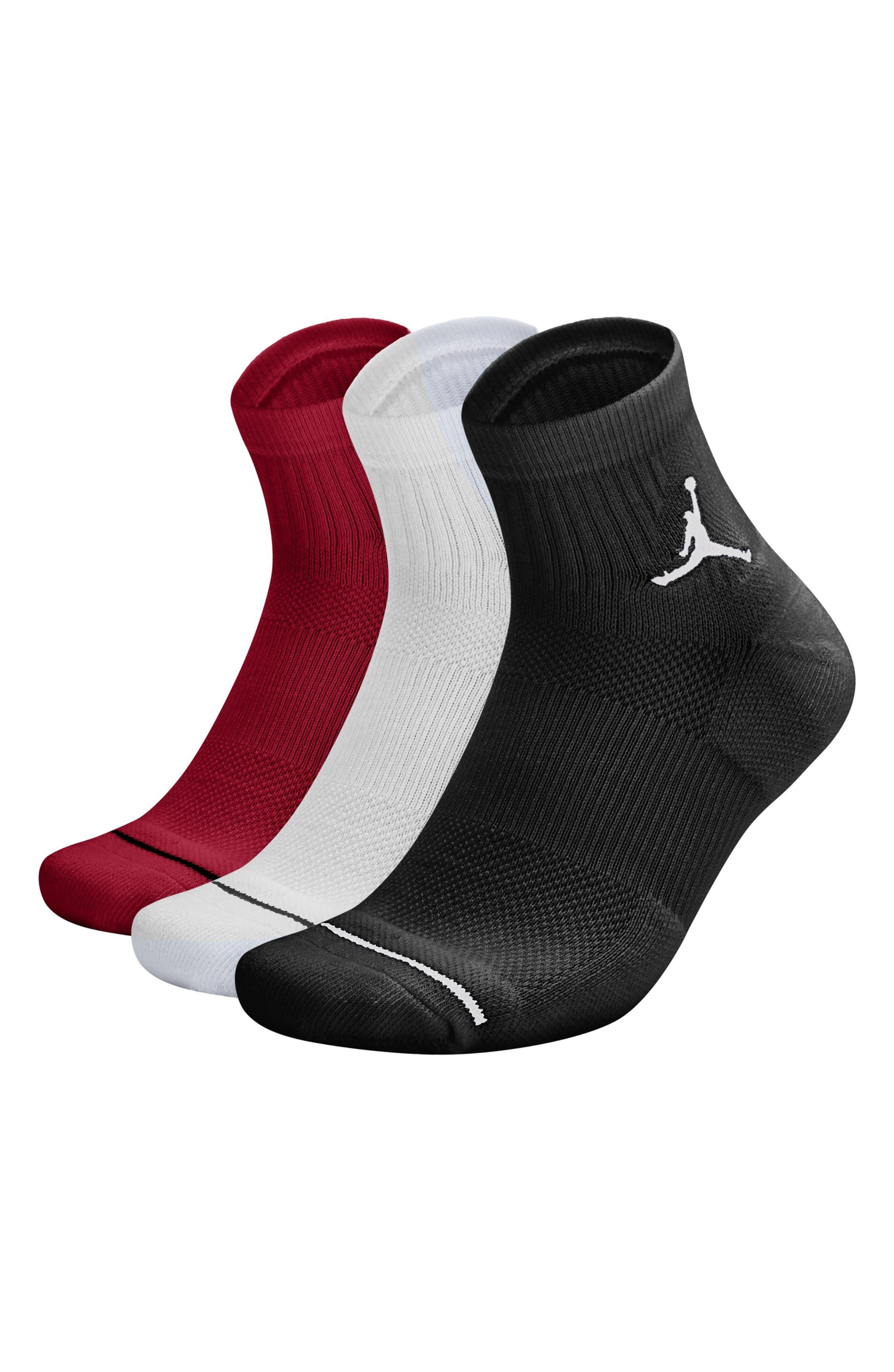 Jumpman 3-Pack Quarter Socks,                             Main thumbnail 1, color,                             011