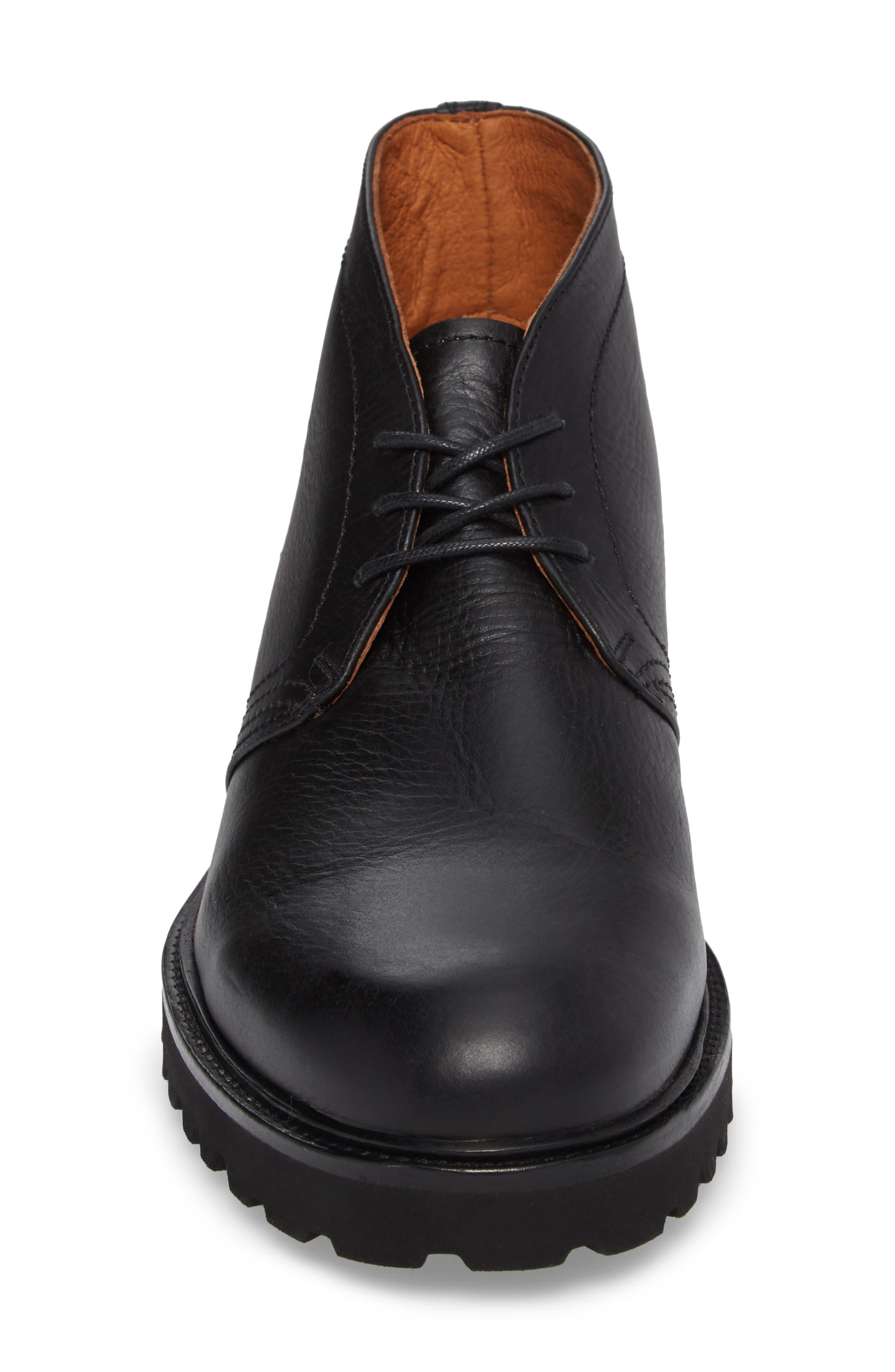 Edwin Waterproof Chukka Boot,                             Alternate thumbnail 4, color,                             001