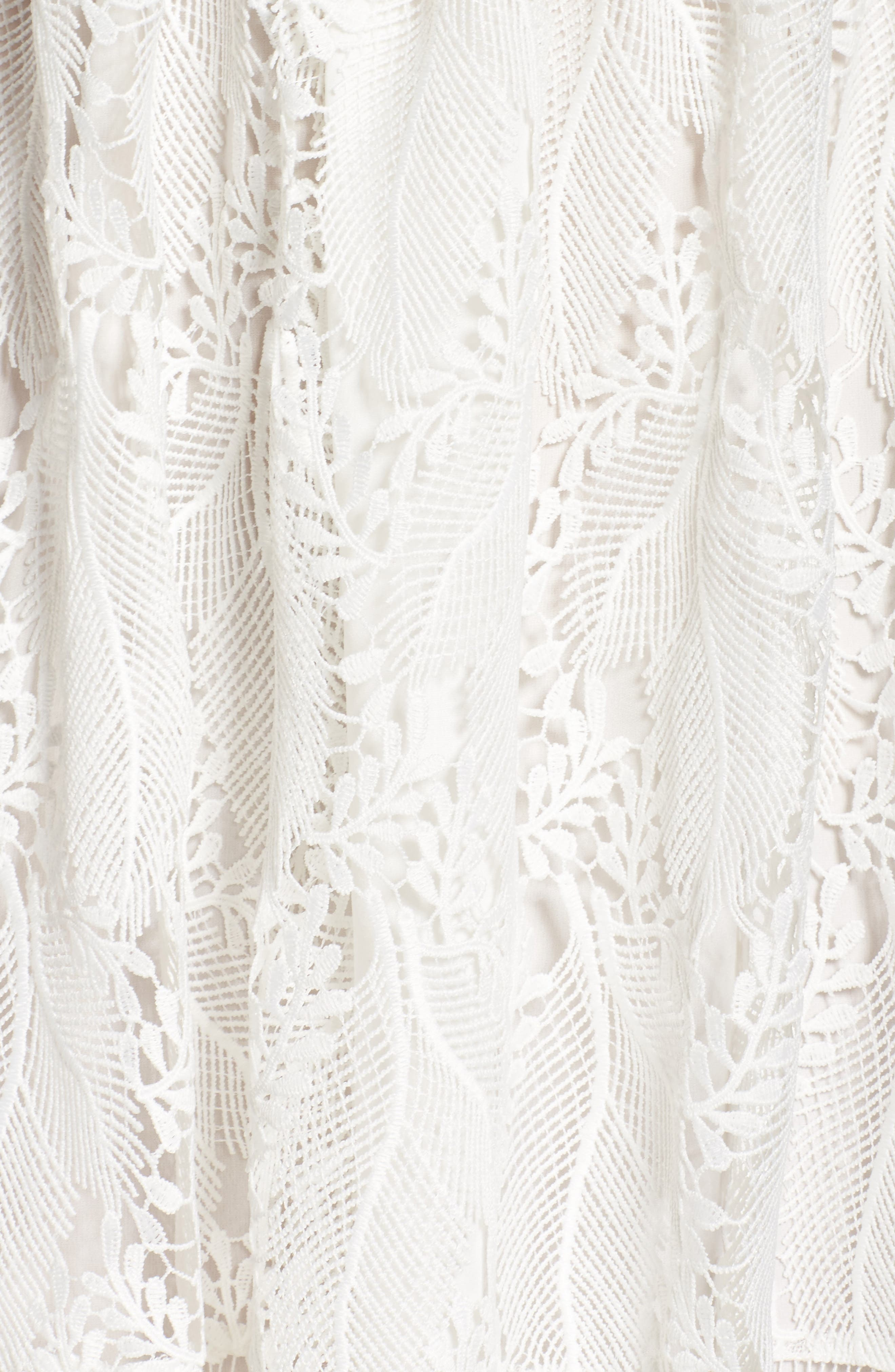 Lace Fit & Flare Dress,                             Alternate thumbnail 5, color,                             100
