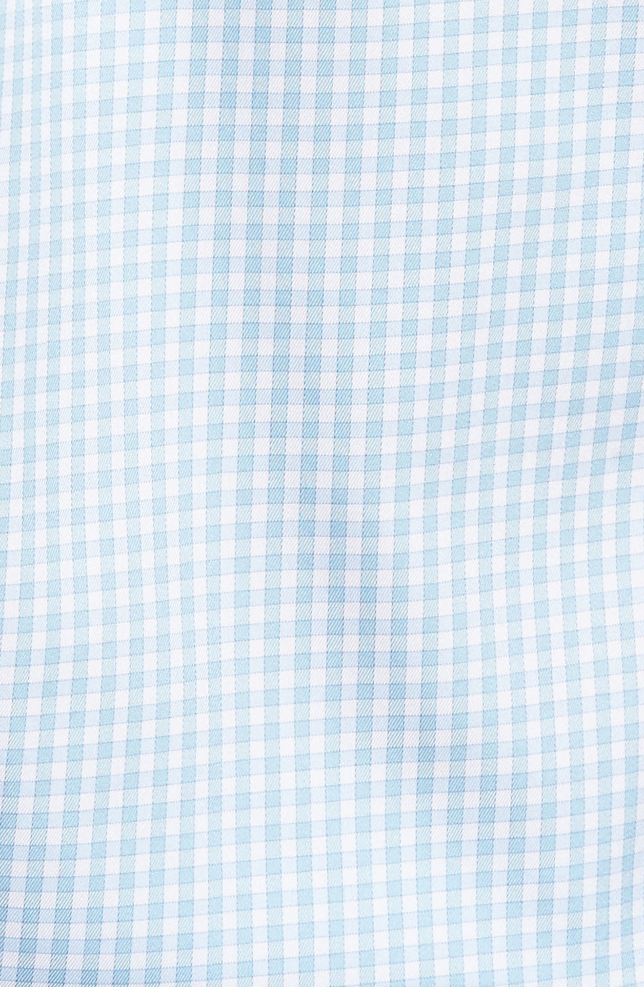 Crown Soft Gingham Regular Fit Sport Shirt,                             Main thumbnail 4, color,