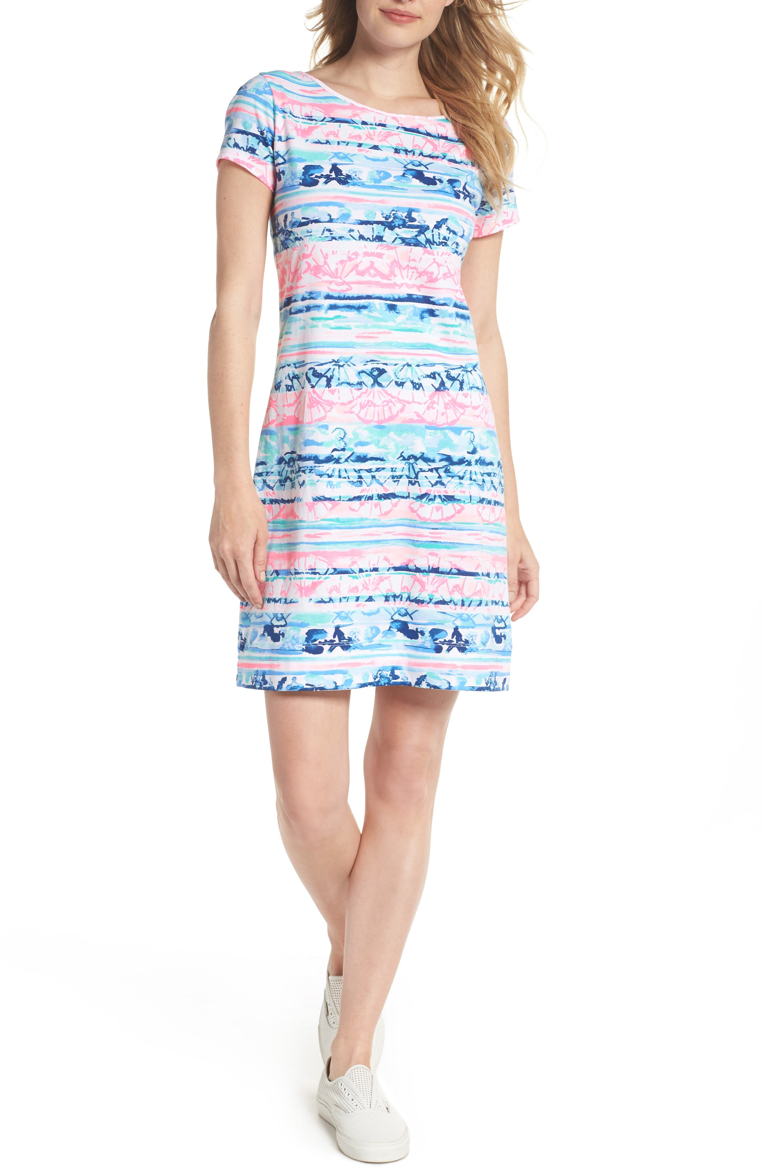 Marlowe T-Shirt Dress,                             Alternate thumbnail 5, color,                             MULTI A WAVE FROM IT
