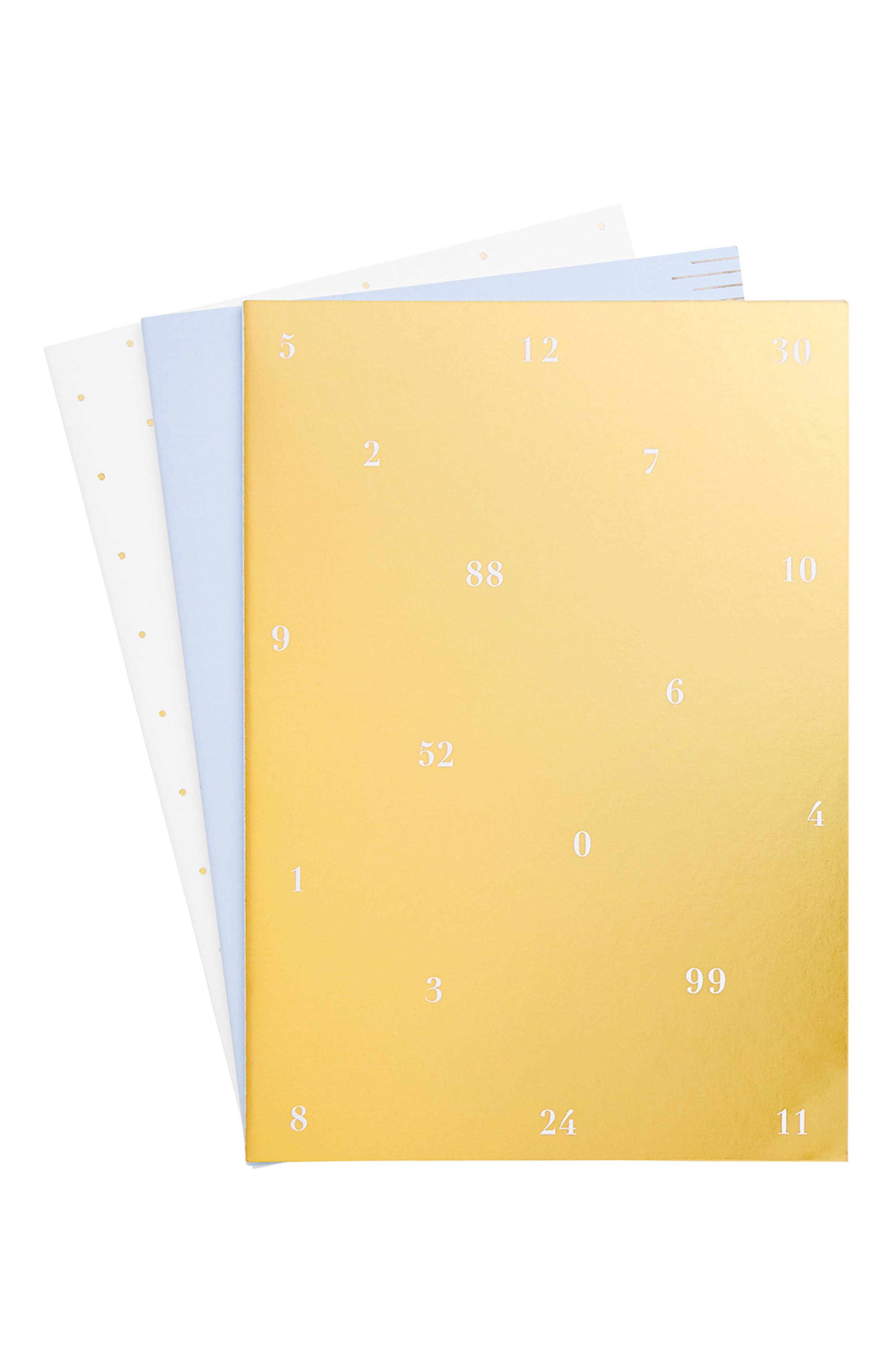 Time is Now 3-Pack Notebooks,                         Main,                         color, MULTI