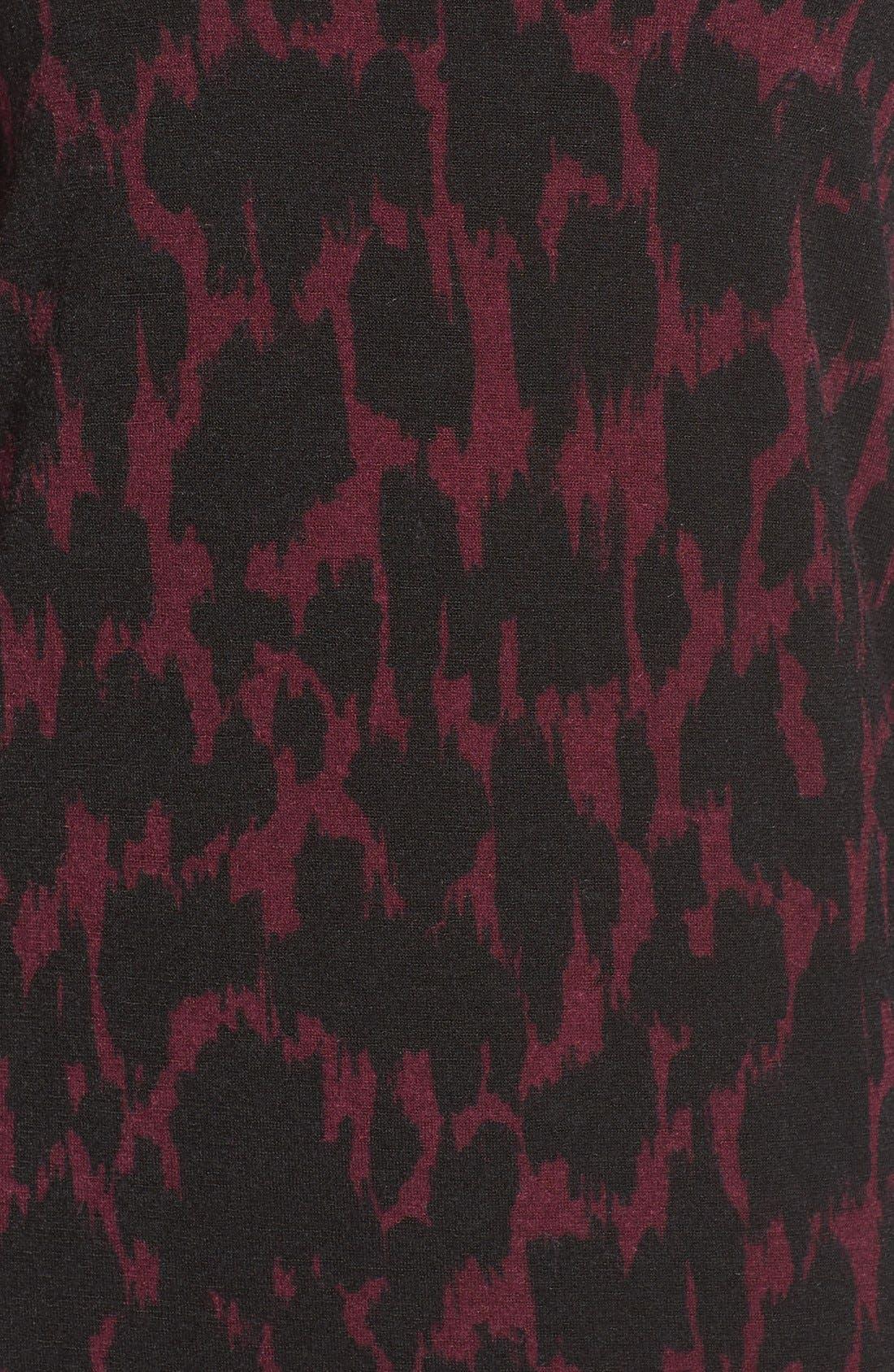 LEOTA,                             'Kate' Static Print Jersey Shift Dress,                             Alternate thumbnail 6, color,                             006
