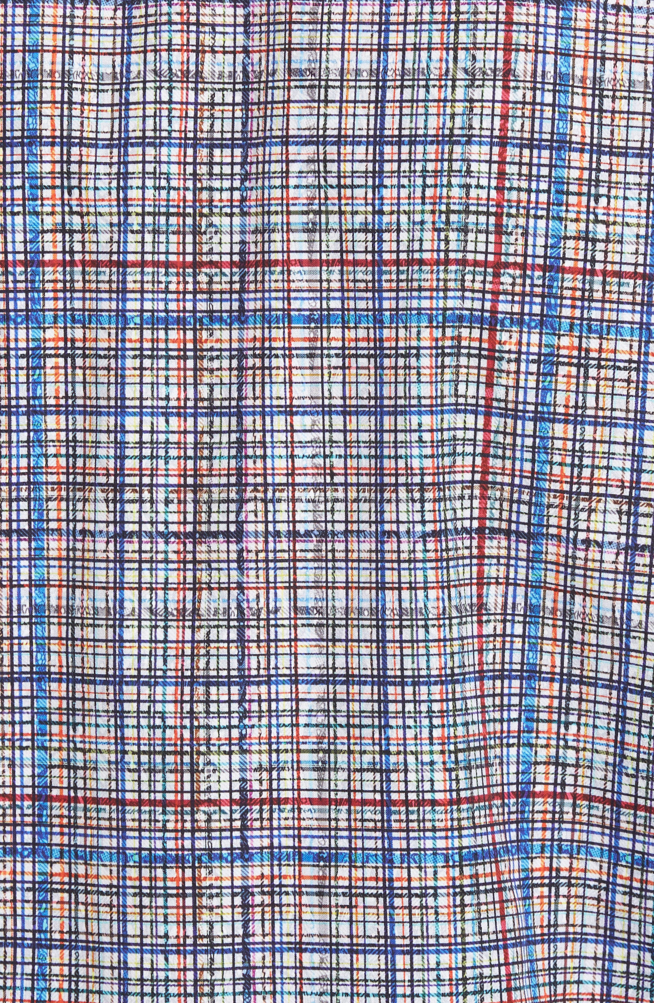 Classic Fit Abstract Plaid Sport Shirt,                             Alternate thumbnail 5, color,
