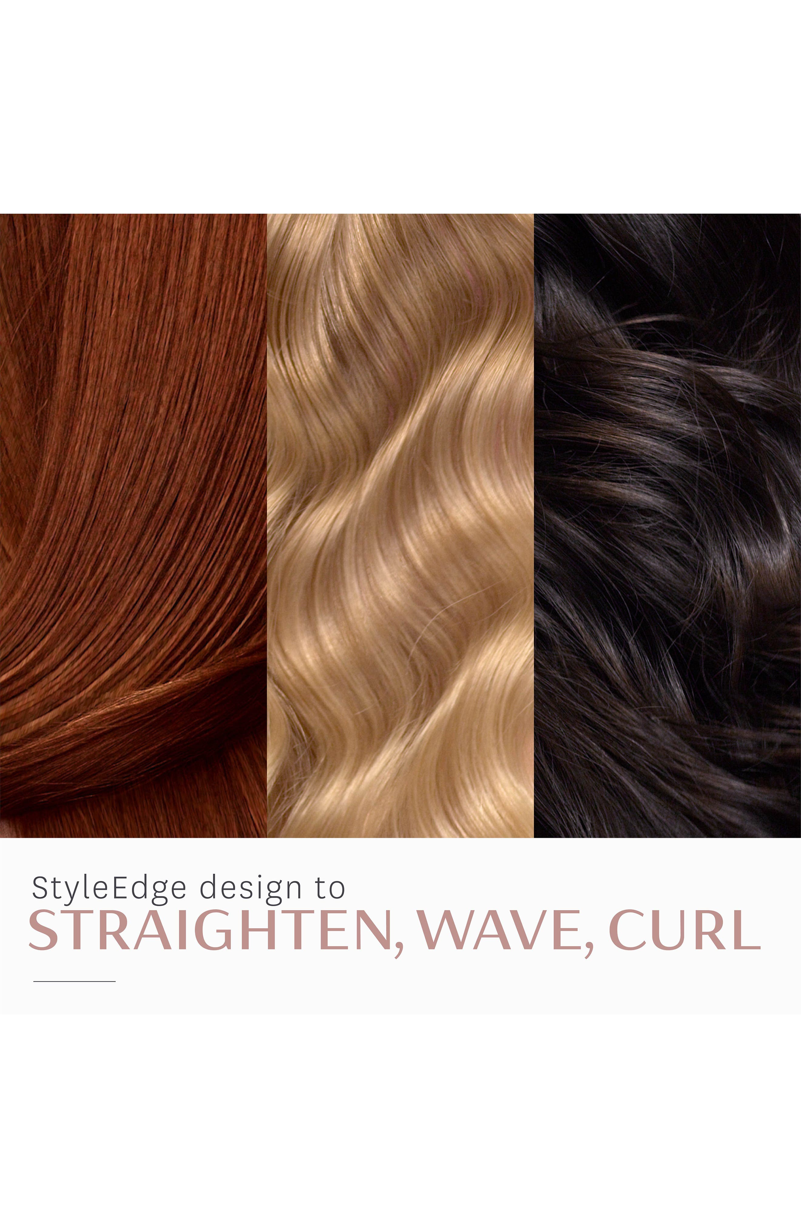 T3,                             SinglePass Luxe 1-Inch Ionic Straightening & Styling Flat Iron,                             Alternate thumbnail 6, color,                             NO COLOR