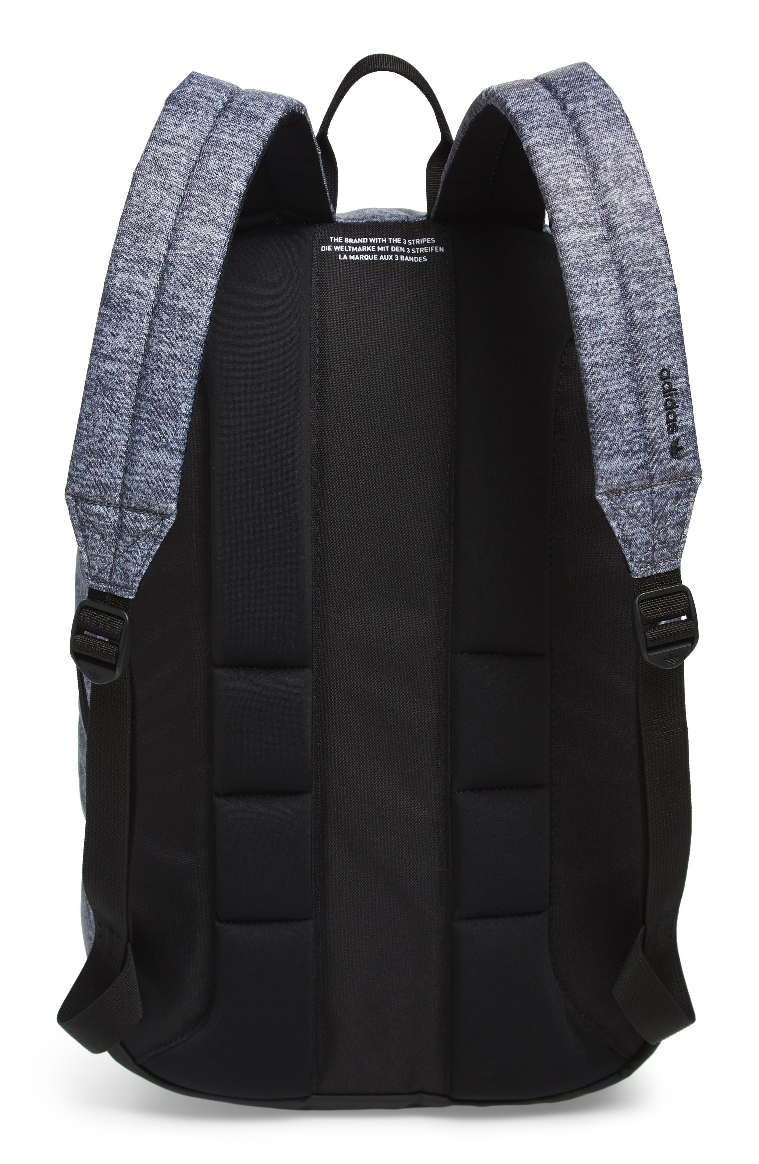adidas Original National Backpack,                             Alternate thumbnail 3, color,                             ONYX JERSEY/ BLACK