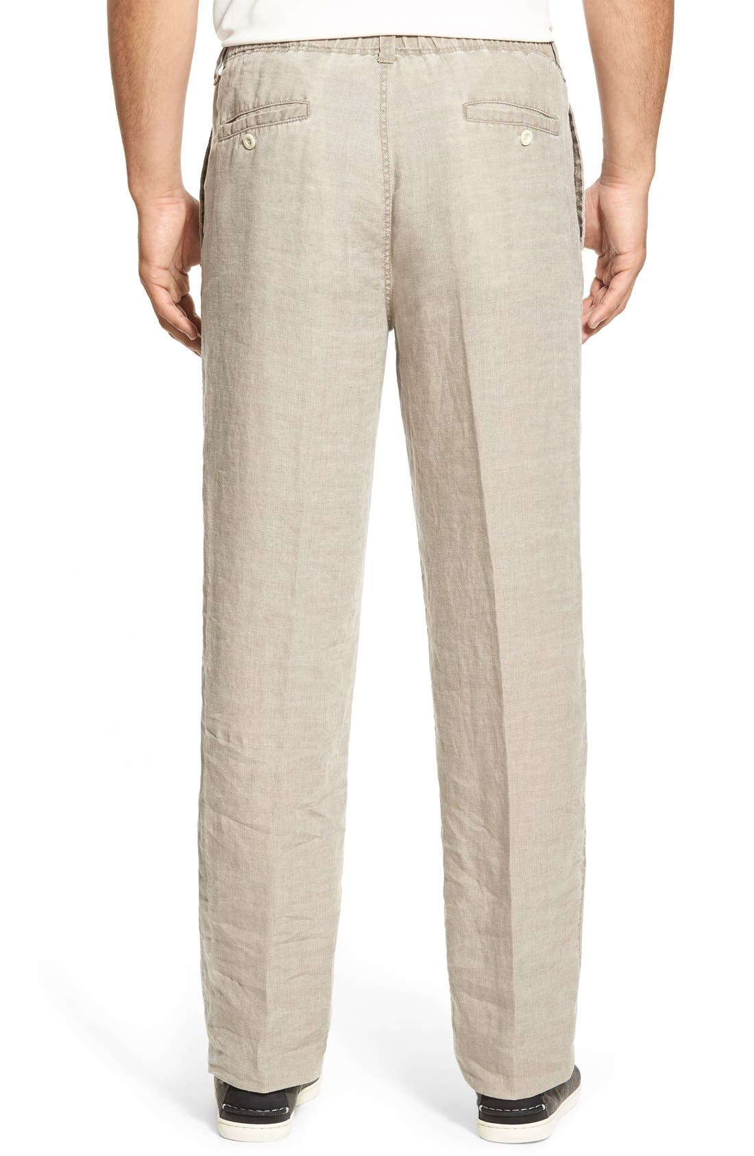 'New Linen on the Beach' Easy Fit Pants,                             Alternate thumbnail 12, color,