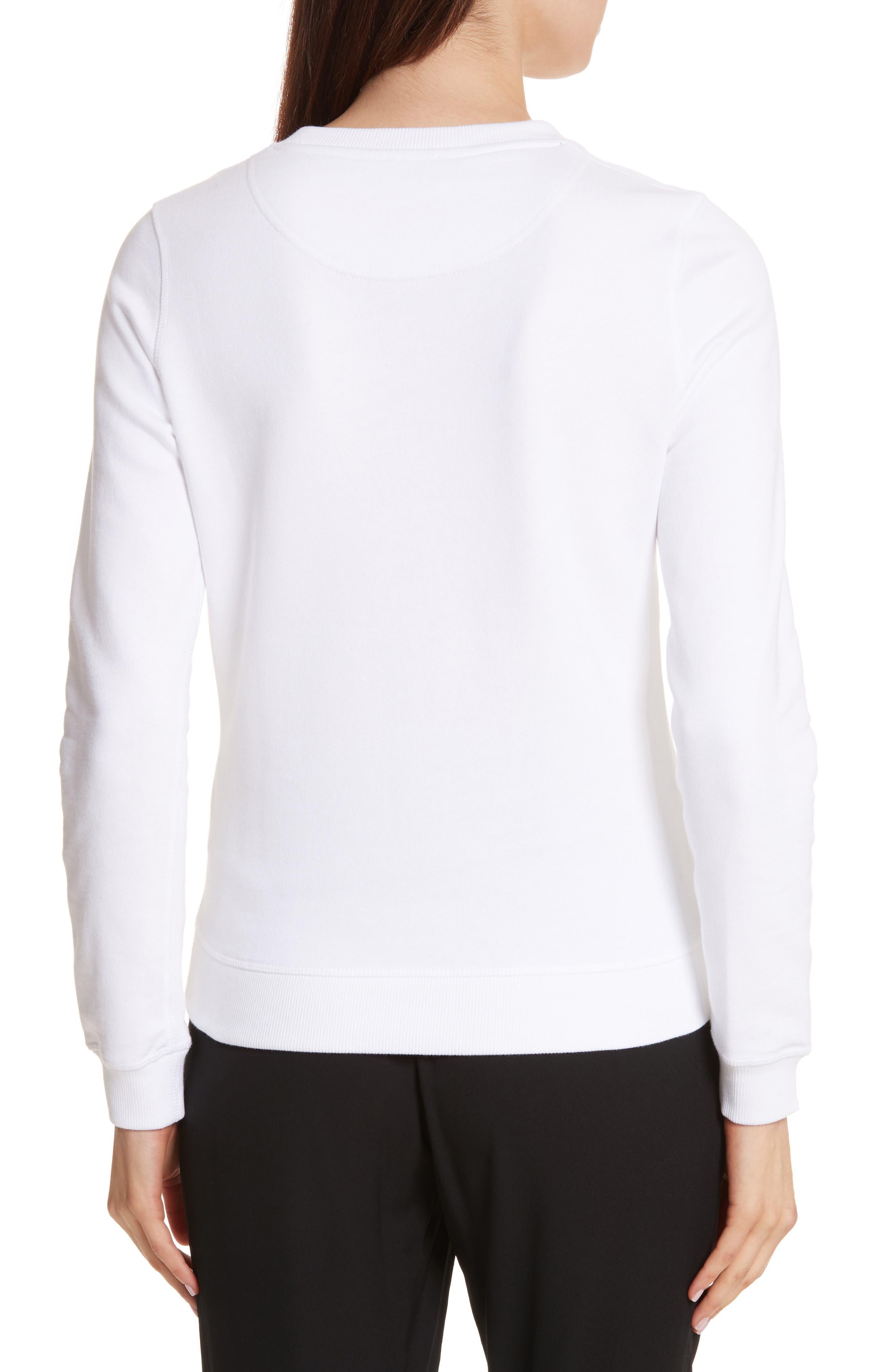 Classic Tiger Sweatshirt,                             Alternate thumbnail 2, color,                             WHITE