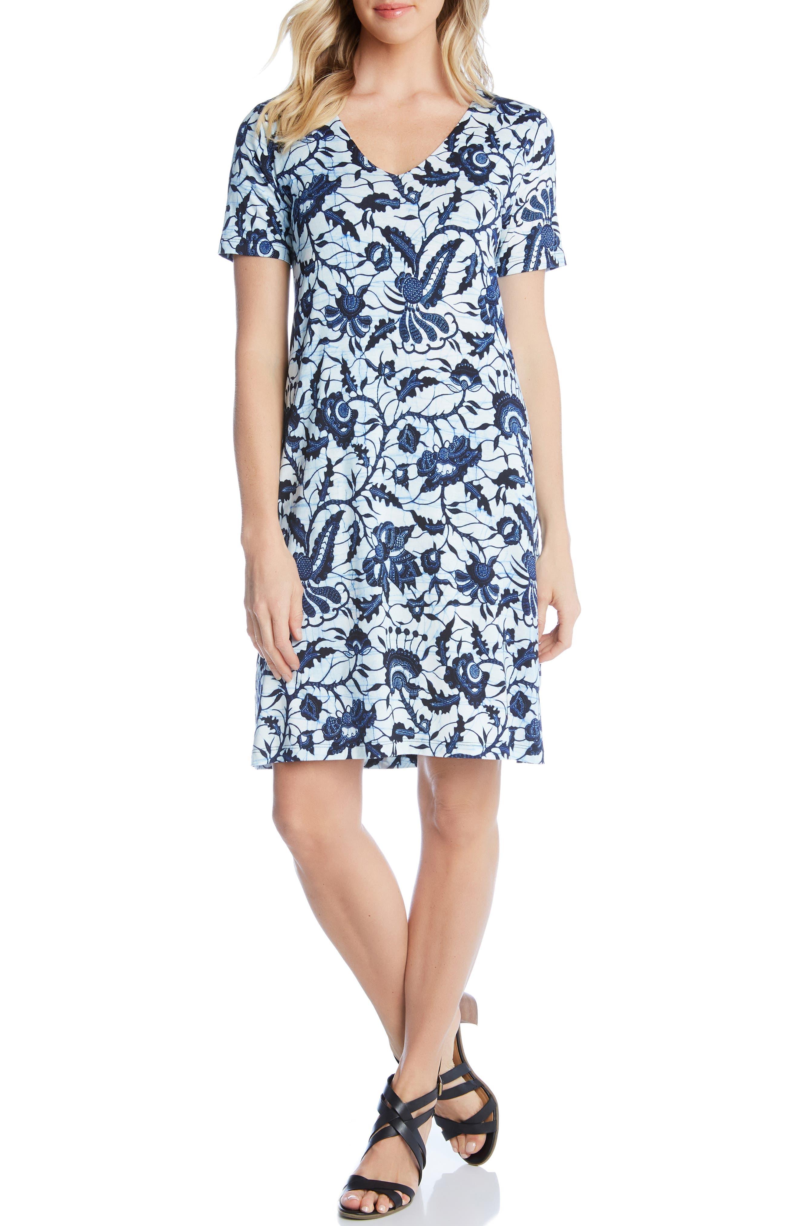 Karen Kane Abby V-Neck Dress, Blue