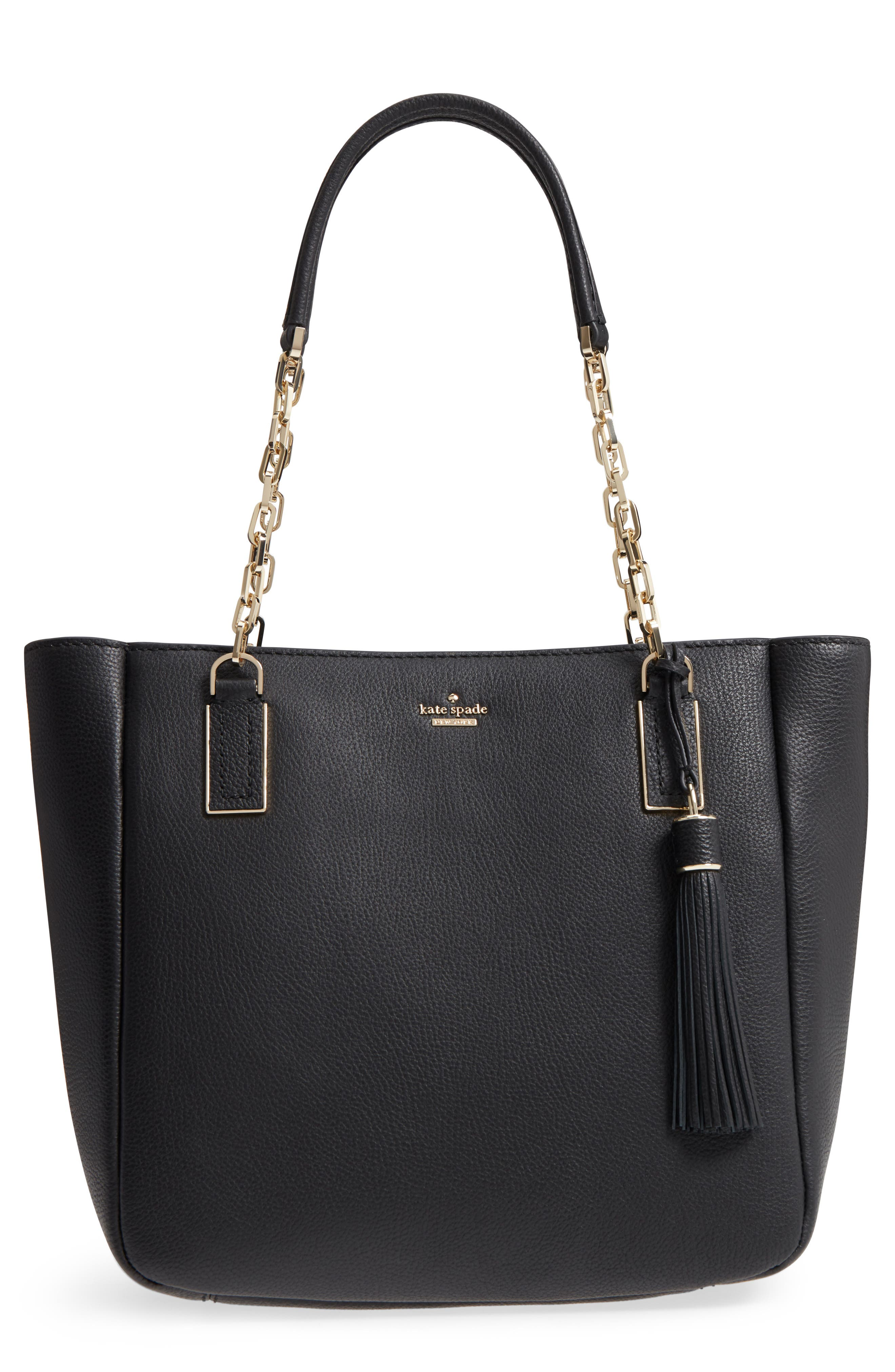 kingston drive - vivian leather tote,                         Main,                         color, 001