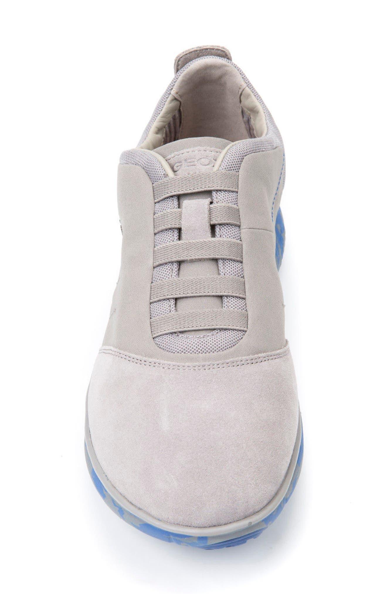 'Nebula 17' Slip-On Sneaker,                             Alternate thumbnail 4, color,                             STONE/ ROYAL