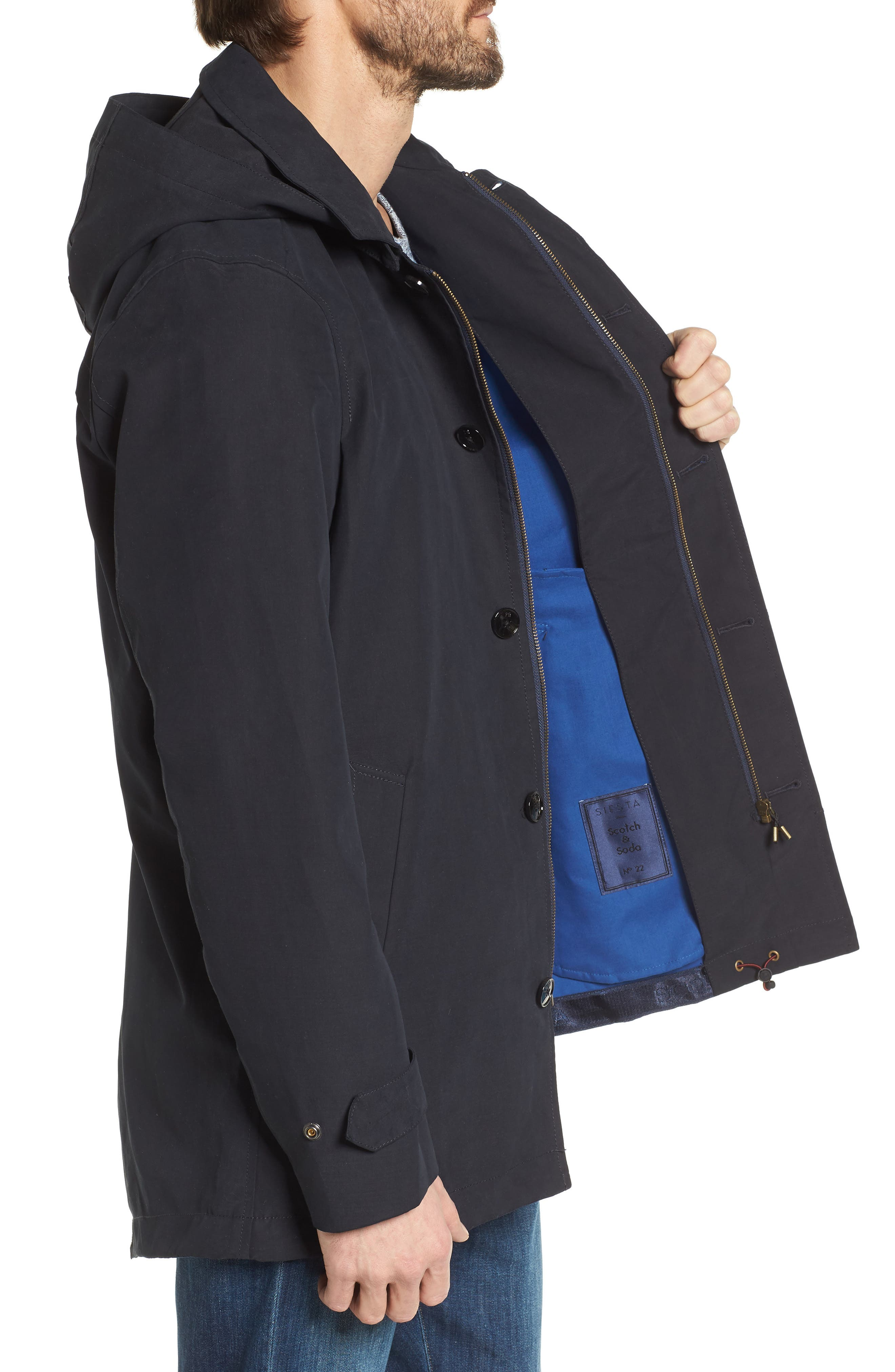 Classic Hooded Parka,                             Alternate thumbnail 5, color,