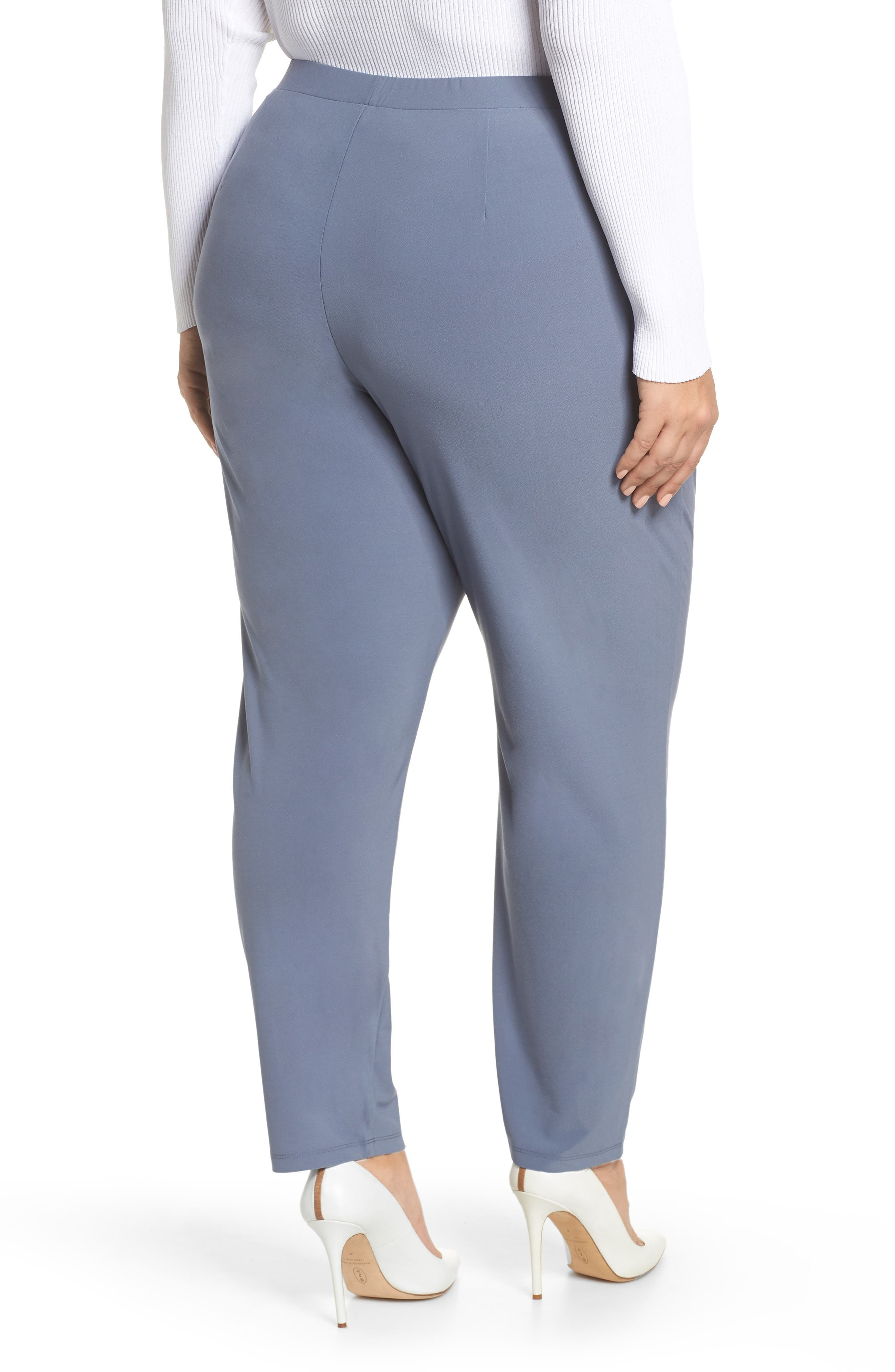 High Rise Pleated Pants,                             Alternate thumbnail 2, color,                             GREY GRISAILLE