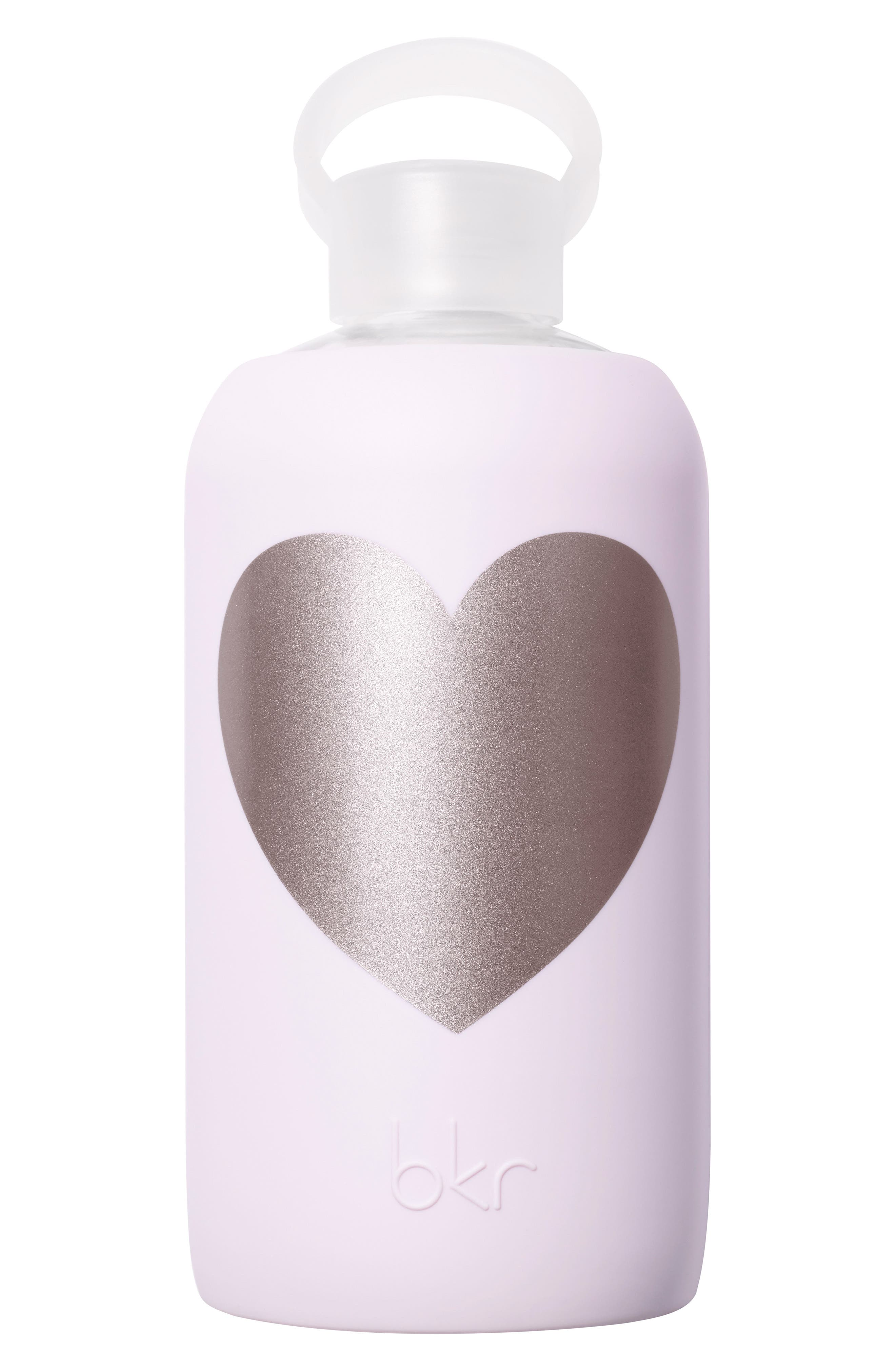 Heart 32-Ounce Glass Water Bottle,                             Main thumbnail 3, color,