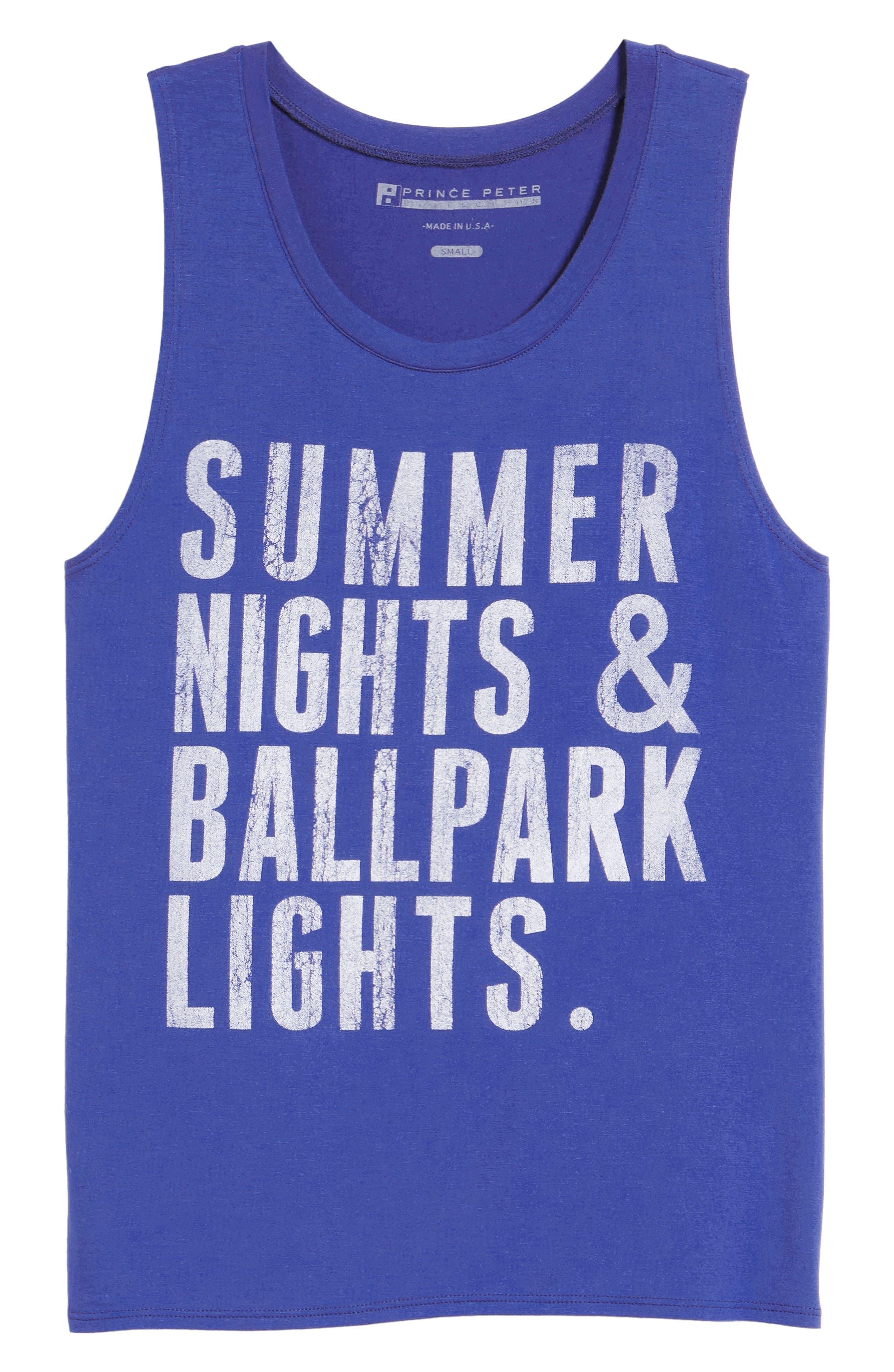 Summer Nights & Ballpark Lights Tank,                             Alternate thumbnail 7, color,