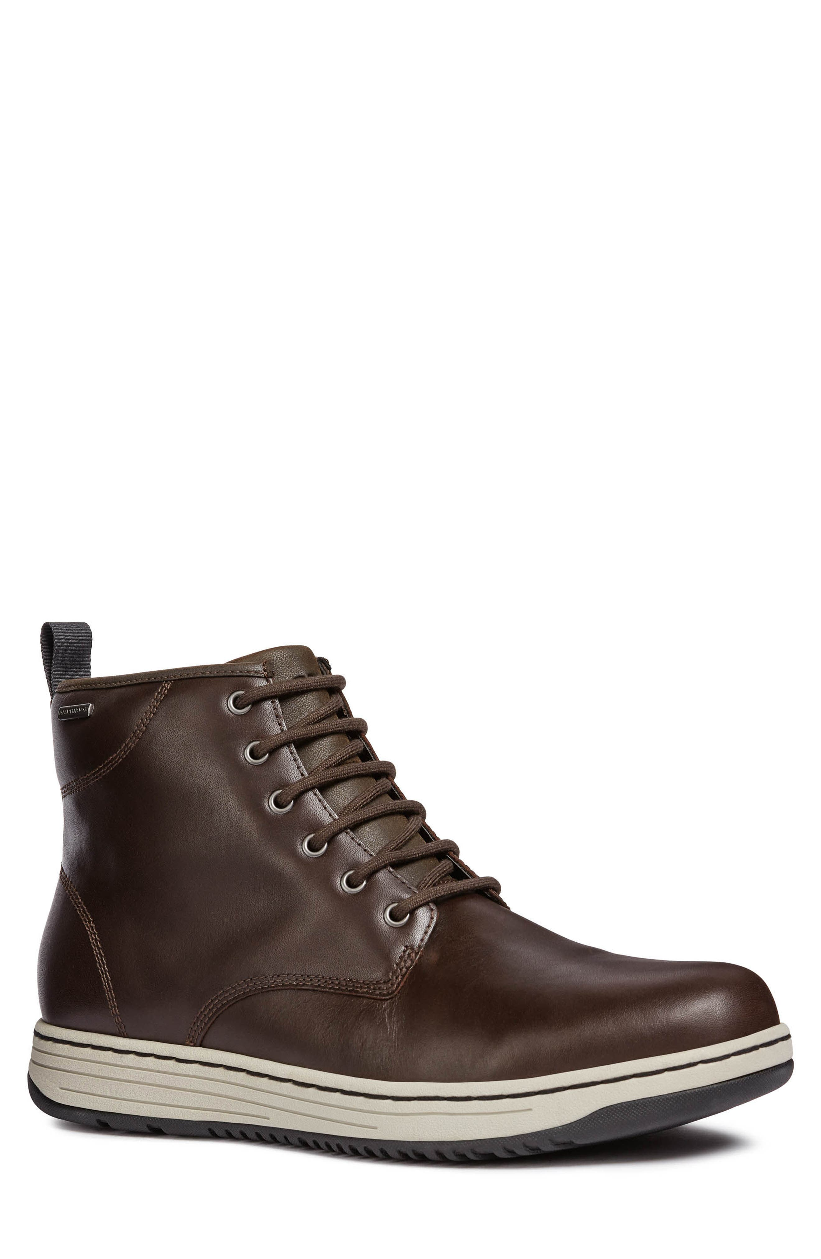 Geox Abroad Abx 2 Tall Lace-Up Boot, Brown