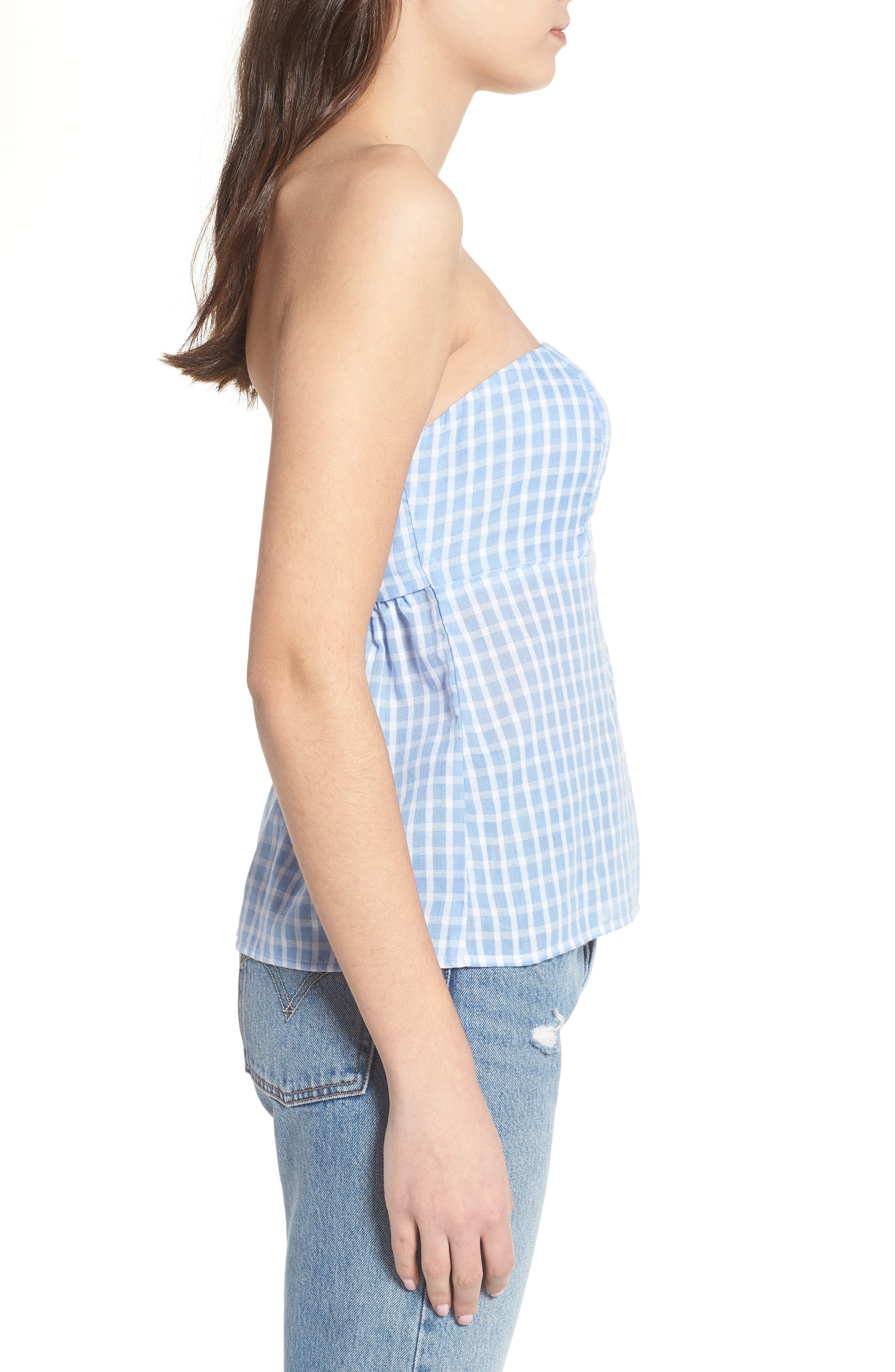 Knot Back Strapless Top,                             Alternate thumbnail 3, color,                             453