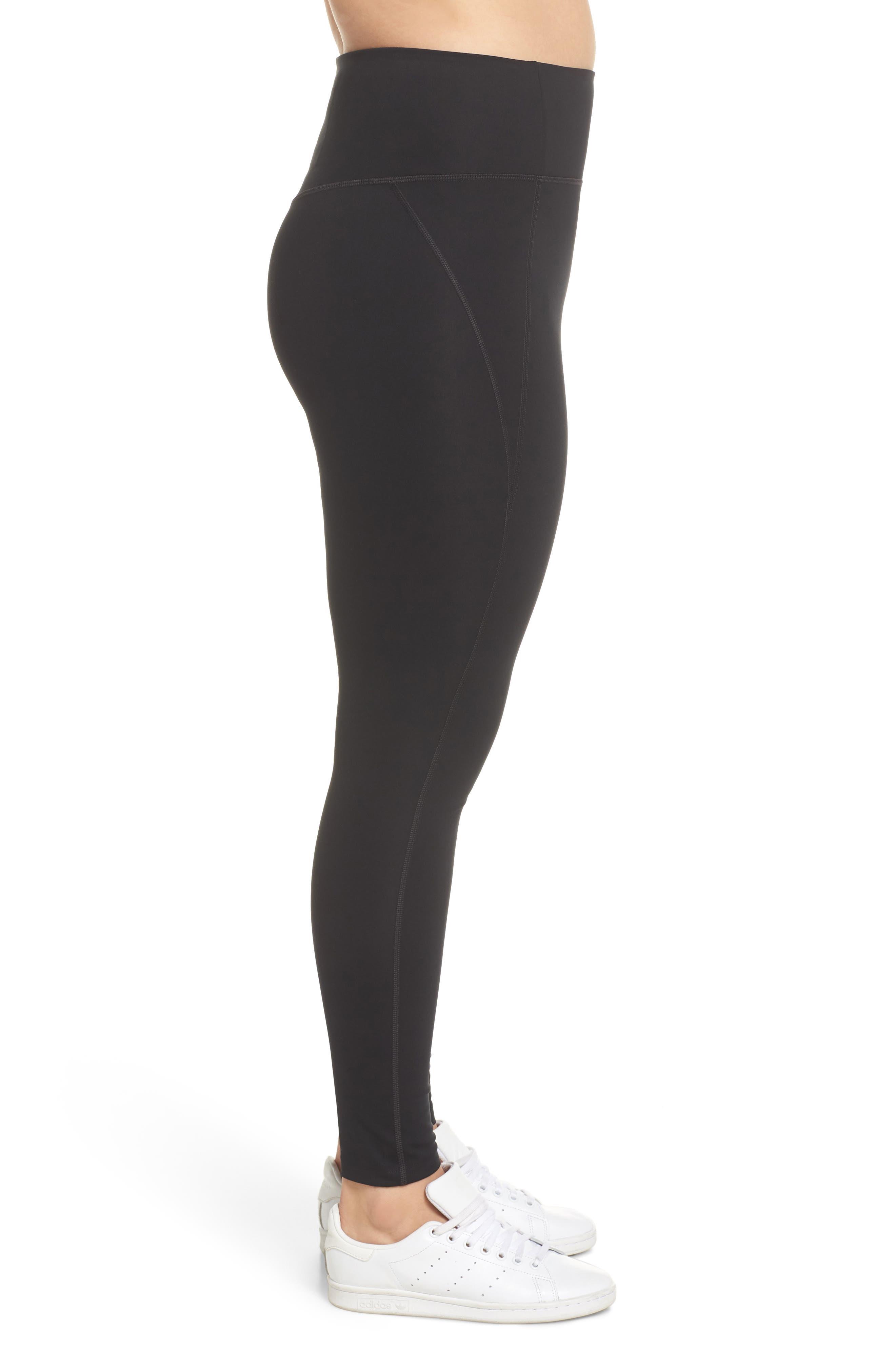 High Waist Full Length Leggings,                             Alternate thumbnail 10, color,                             BLACK
