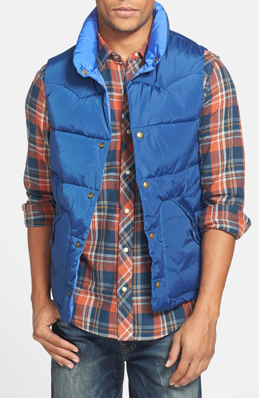 Reversible Quilted Vest,                             Main thumbnail 2, color,