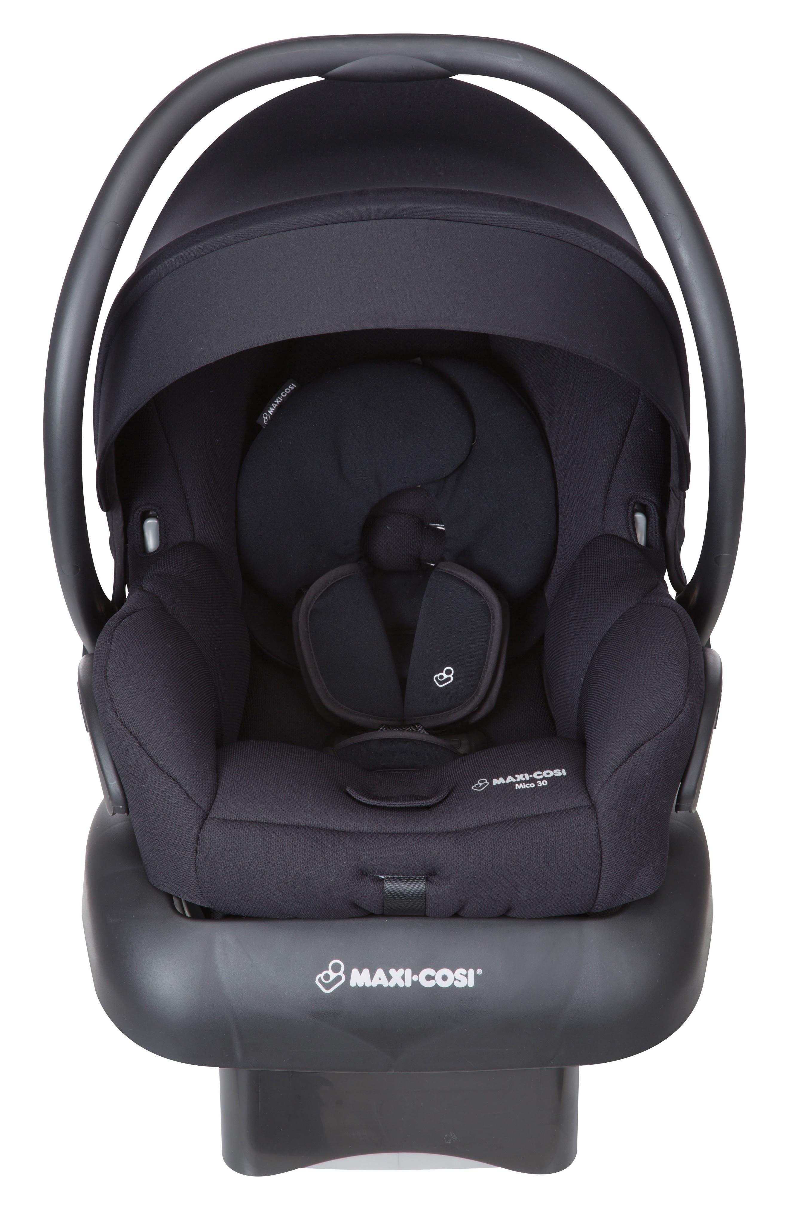 Mico 30 Infant Car Seat,                             Main thumbnail 1, color,                             NIGHT BLACK