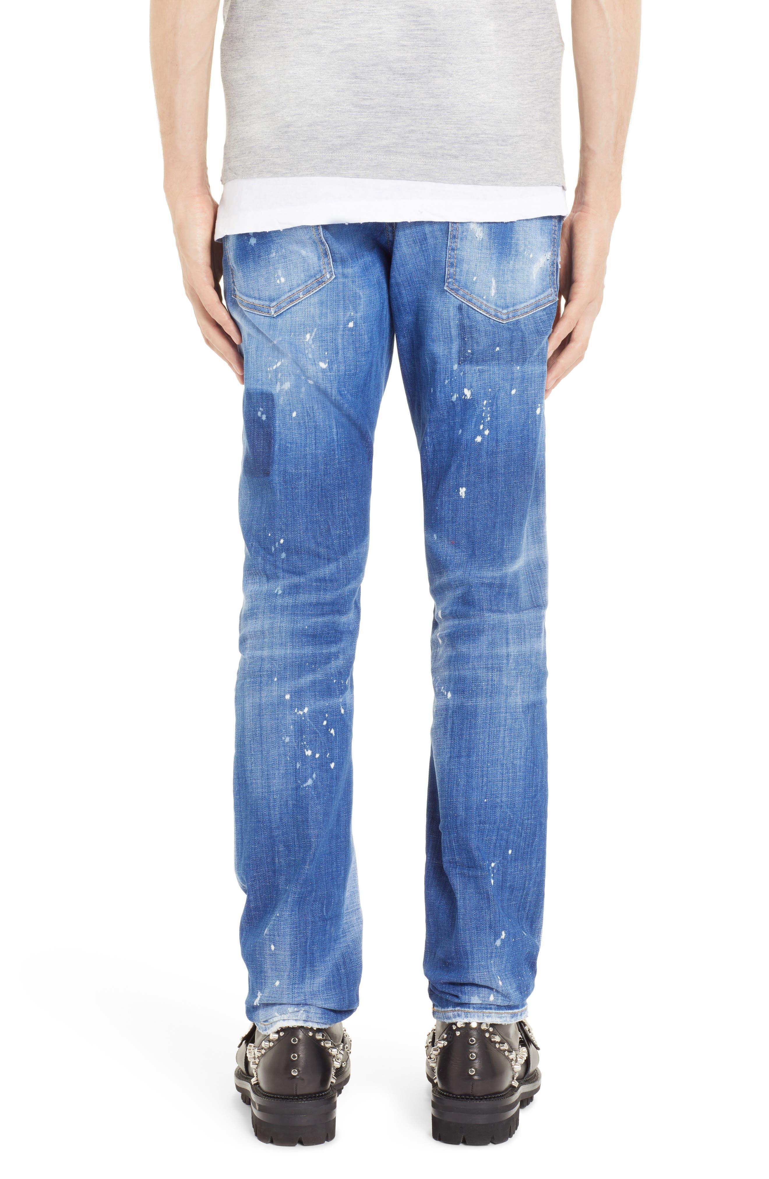 Paint Sexy Twist Slim Fit Jeans,                             Alternate thumbnail 2, color,                             400