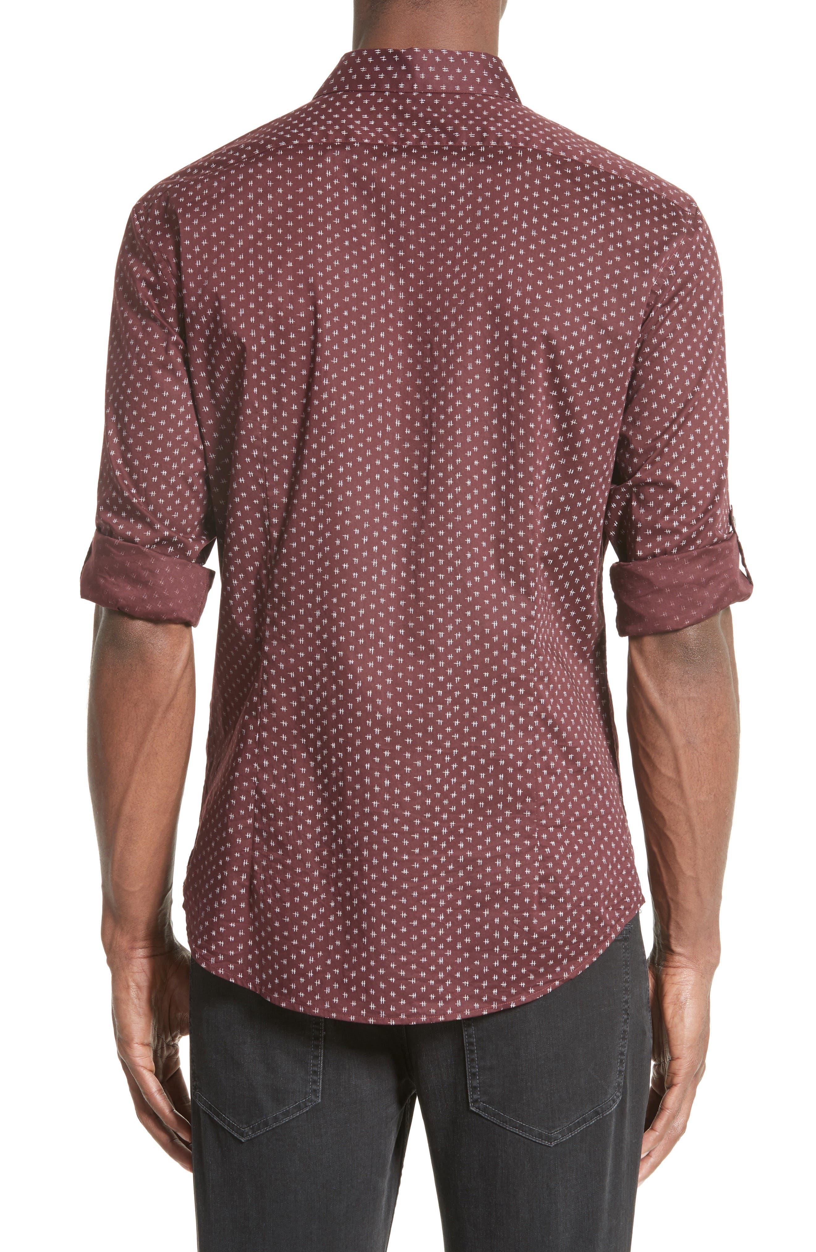 Slim Fit Print Sport Shirt,                             Alternate thumbnail 3, color,                             618