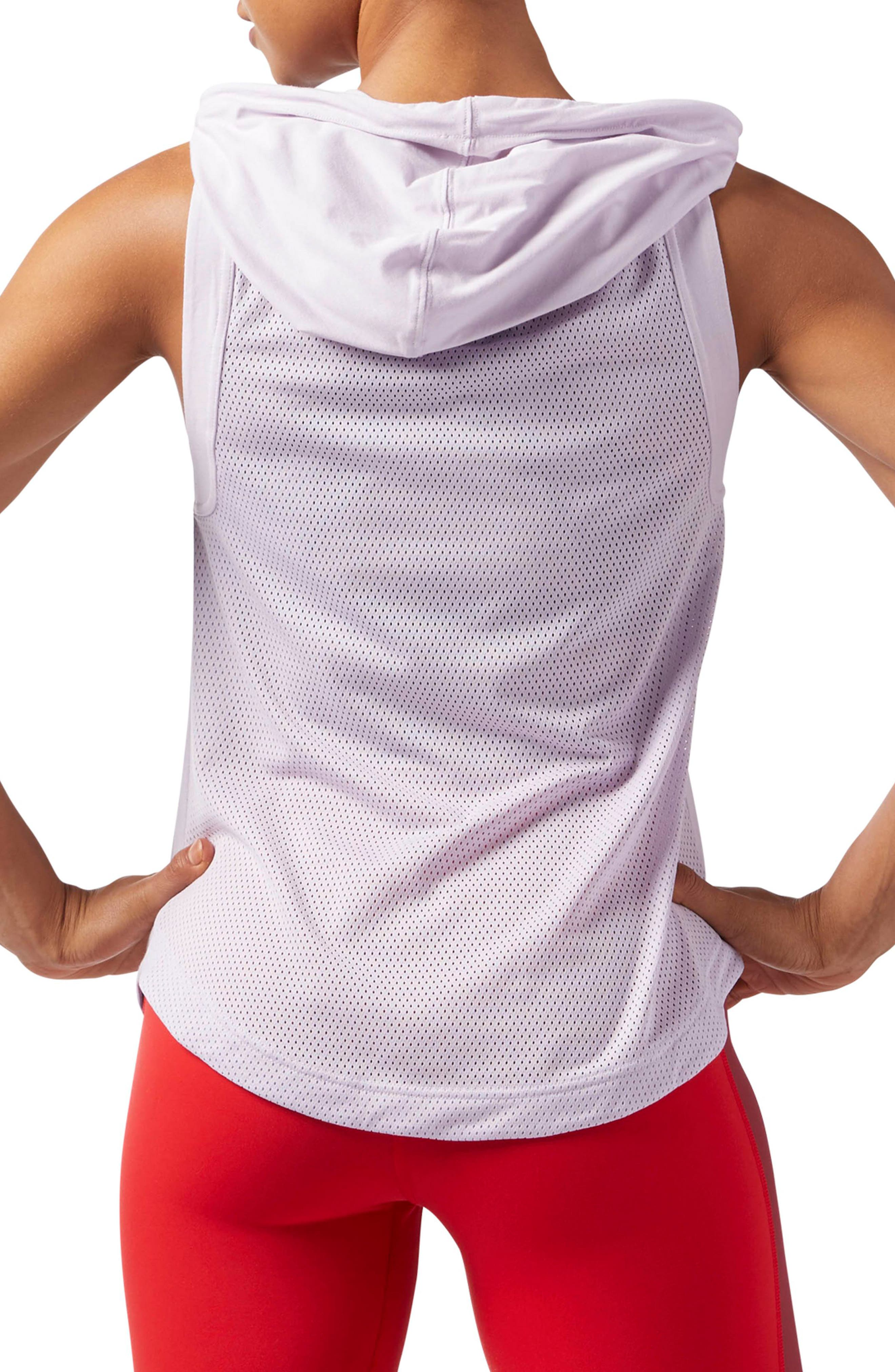 Workout Ready Sleeveless Hoodie,                             Alternate thumbnail 4, color,