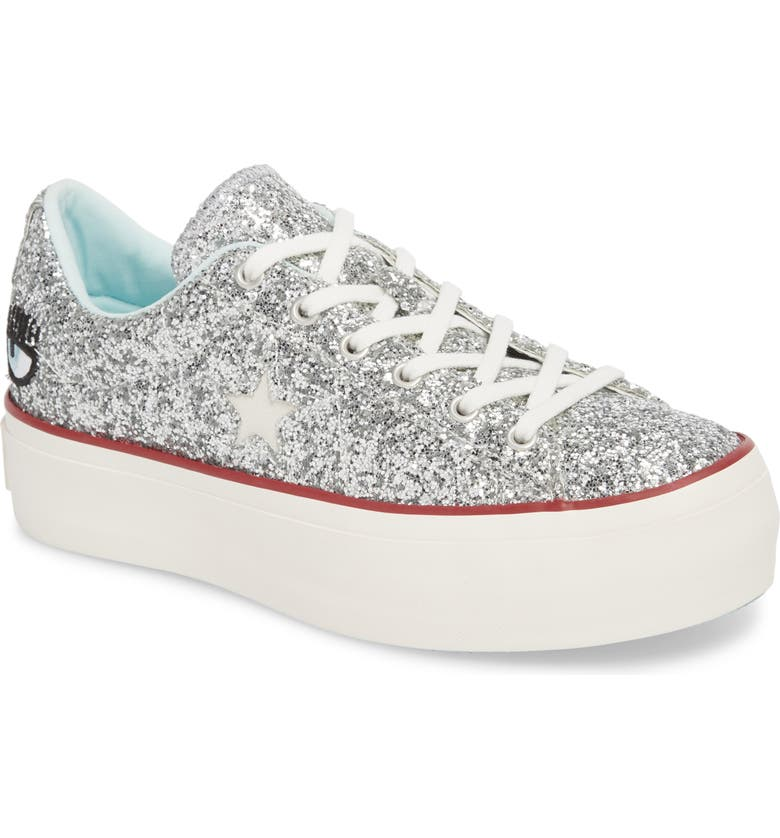 01c9416aa2c5 Converse x Chiara Ferragni One Star Glitter Platform Sneaker (Women ...