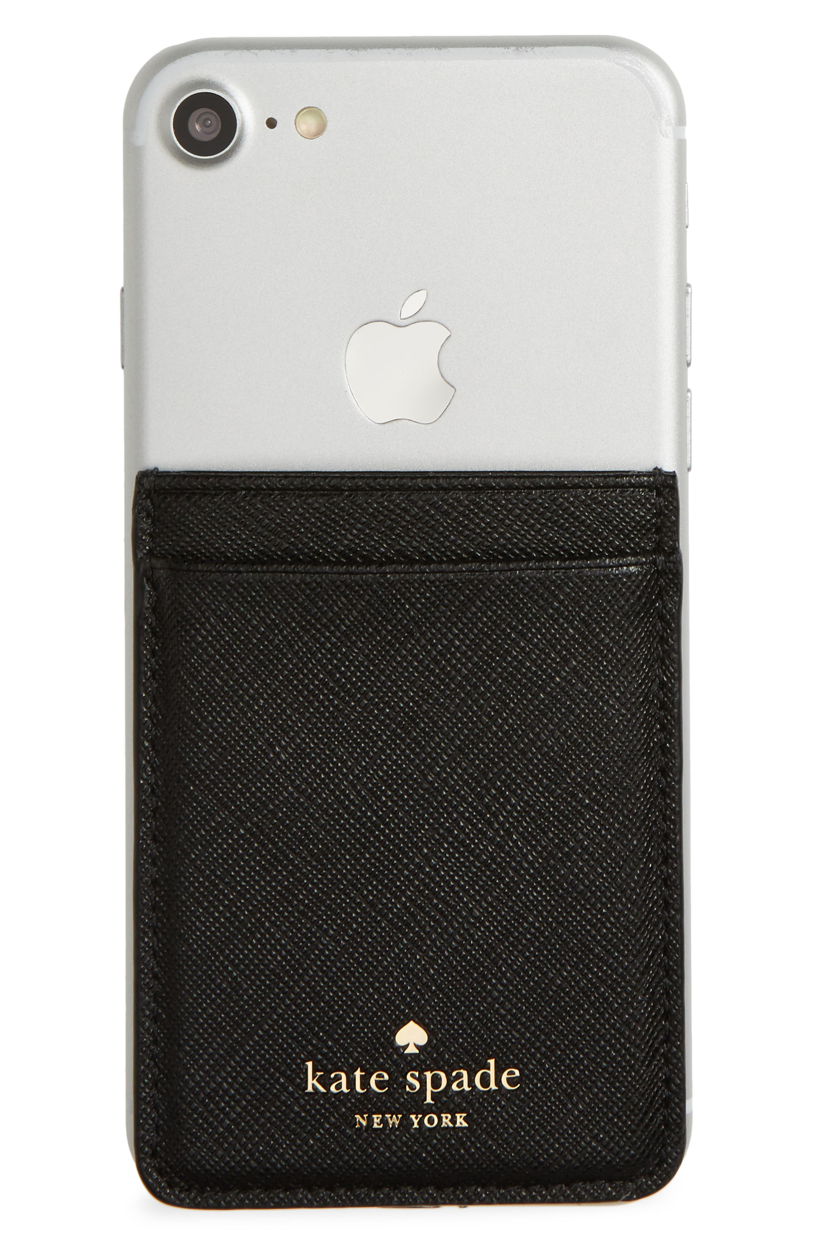 phone sticker pocket,                         Main,                         color, BLACK