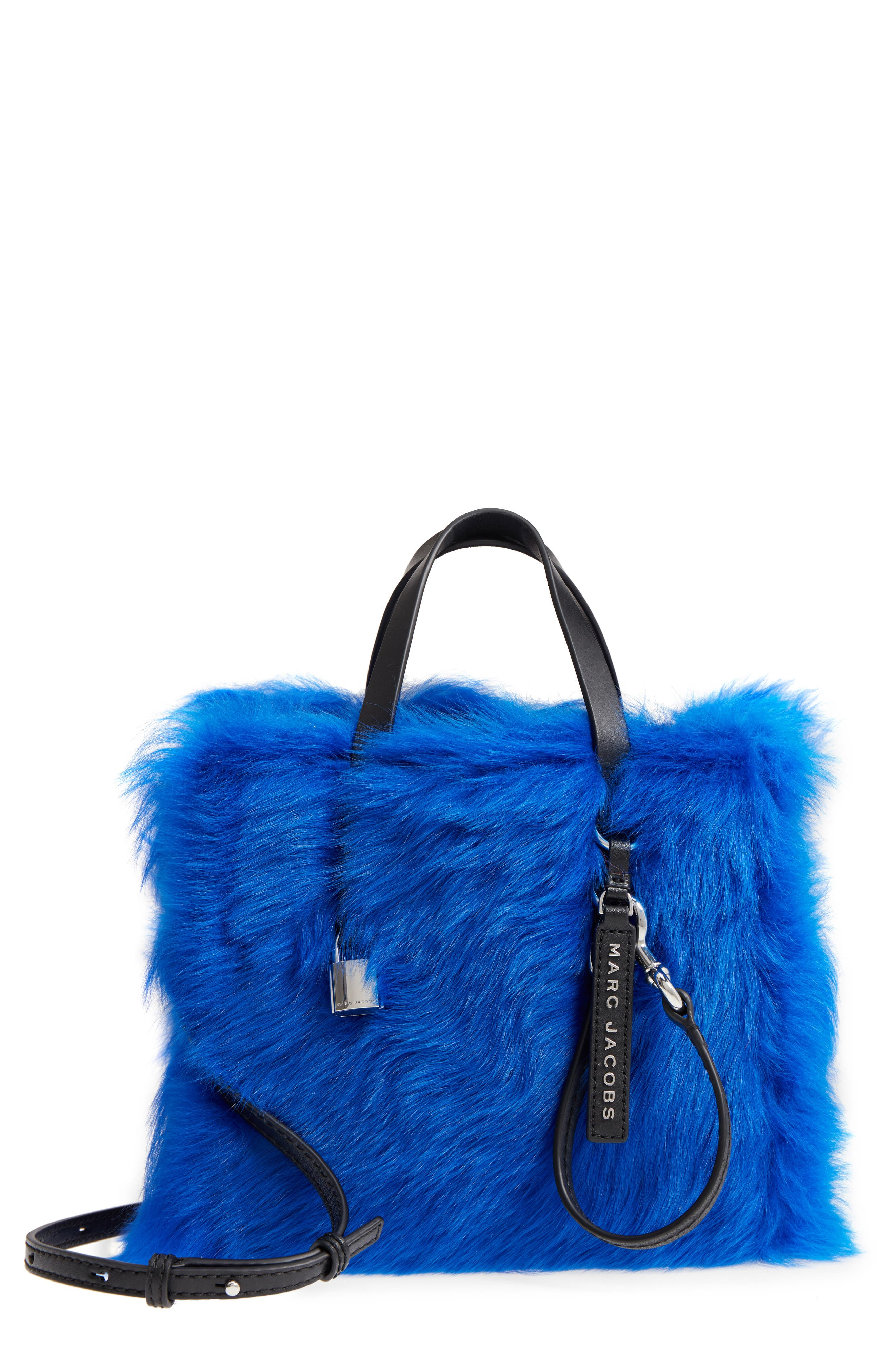 Mini The Grind Genuine Shearling Tote,                             Main thumbnail 1, color,