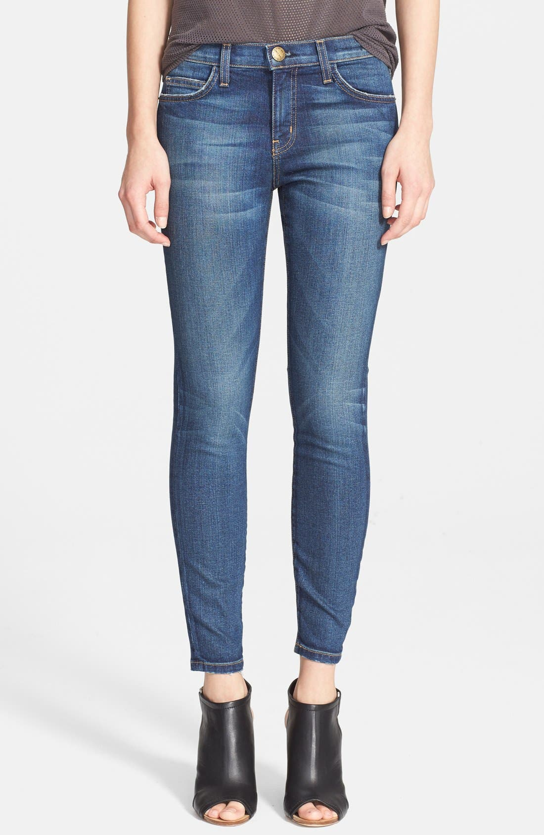 'The Stiletto' Destroyed Skinny Jeans,                             Main thumbnail 5, color,