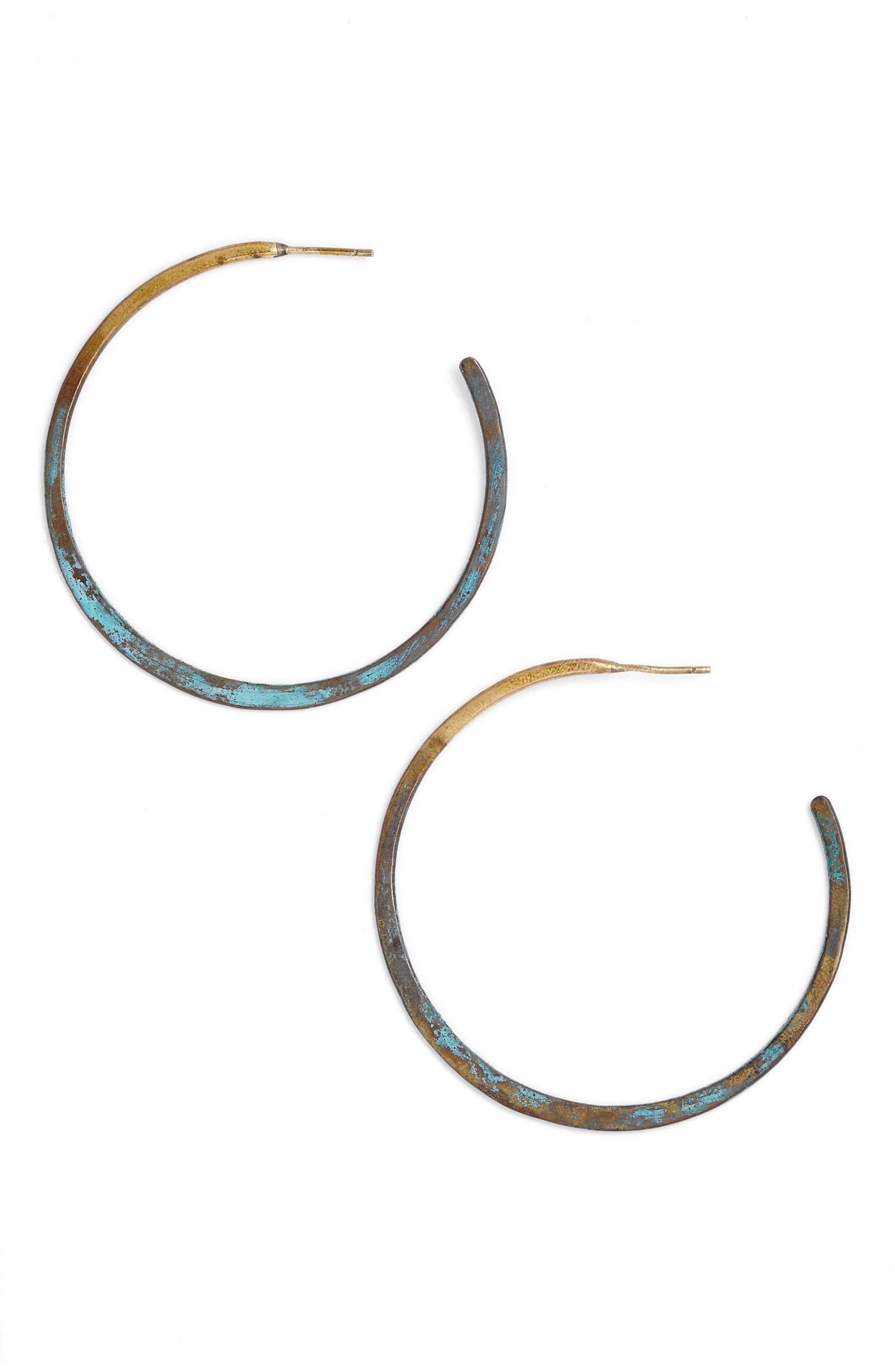 Patina Hoop Earrings,                         Main,                         color, 301
