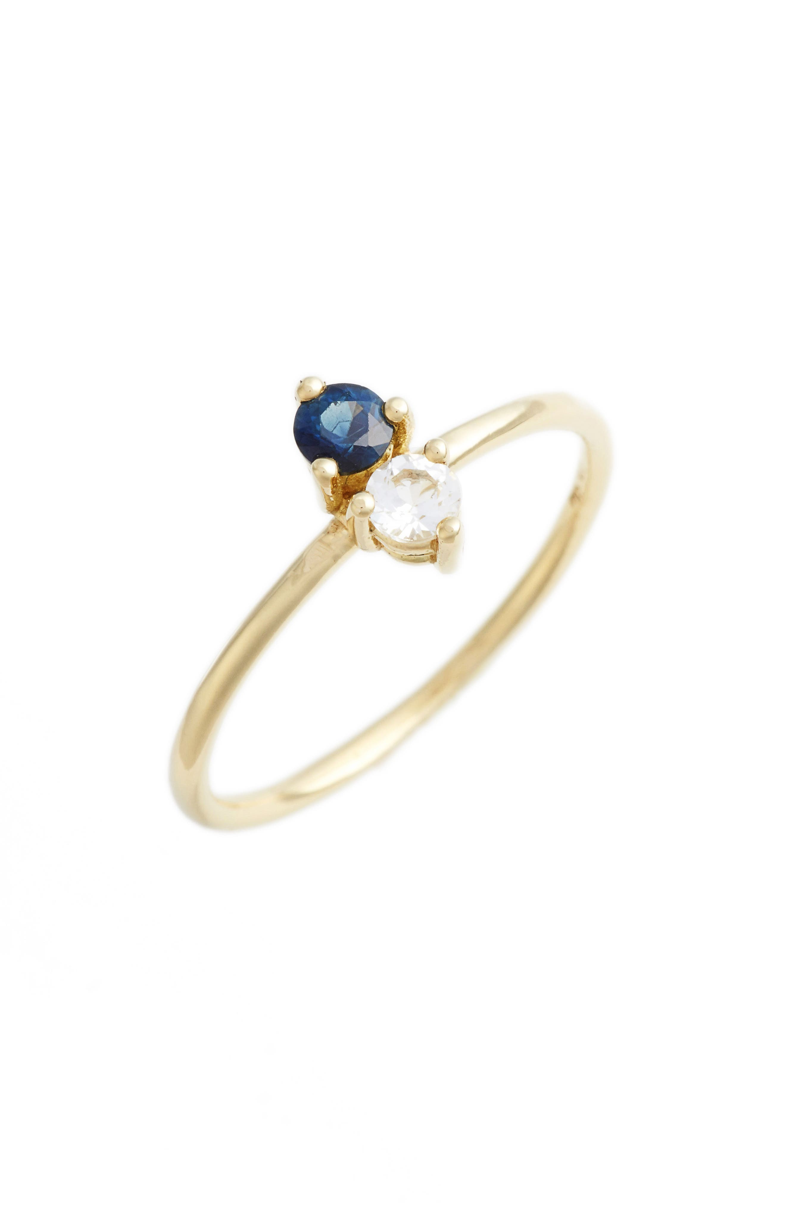 Birthstone Stacking Ring,                         Main,                         color, SEPTEMBER/ SAPPHIRE