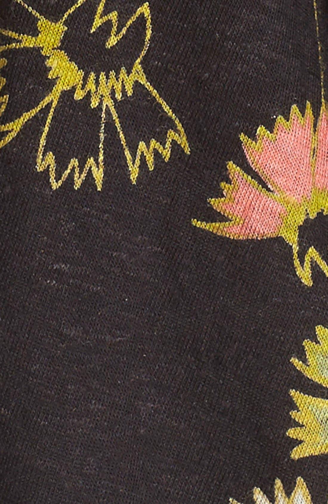 'Love Potion' Floral Print Sleeveless Knit Top,                             Alternate thumbnail 2, color,                             001