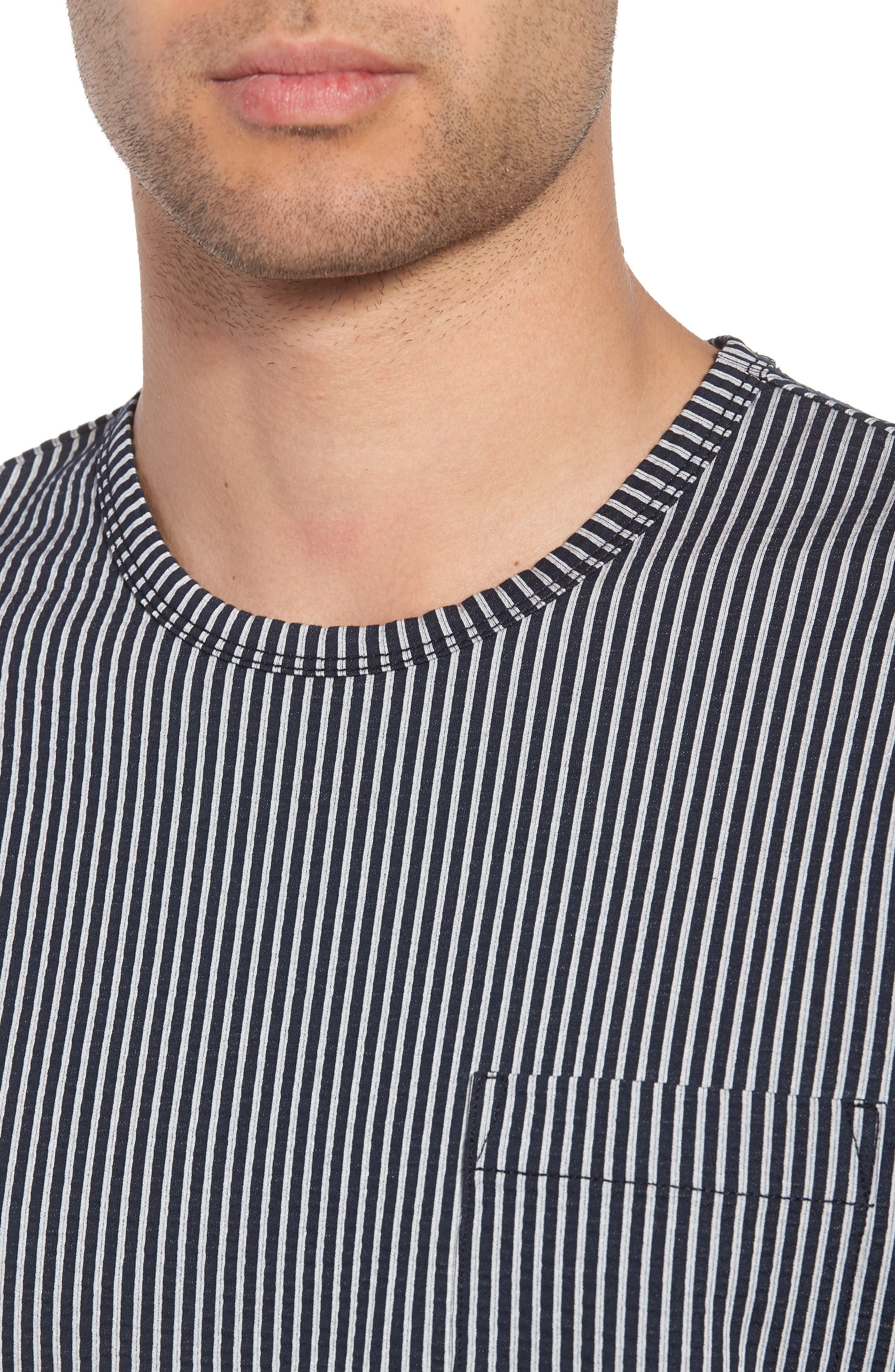 Japanese Seersucker T-Shirt,                             Alternate thumbnail 8, color,