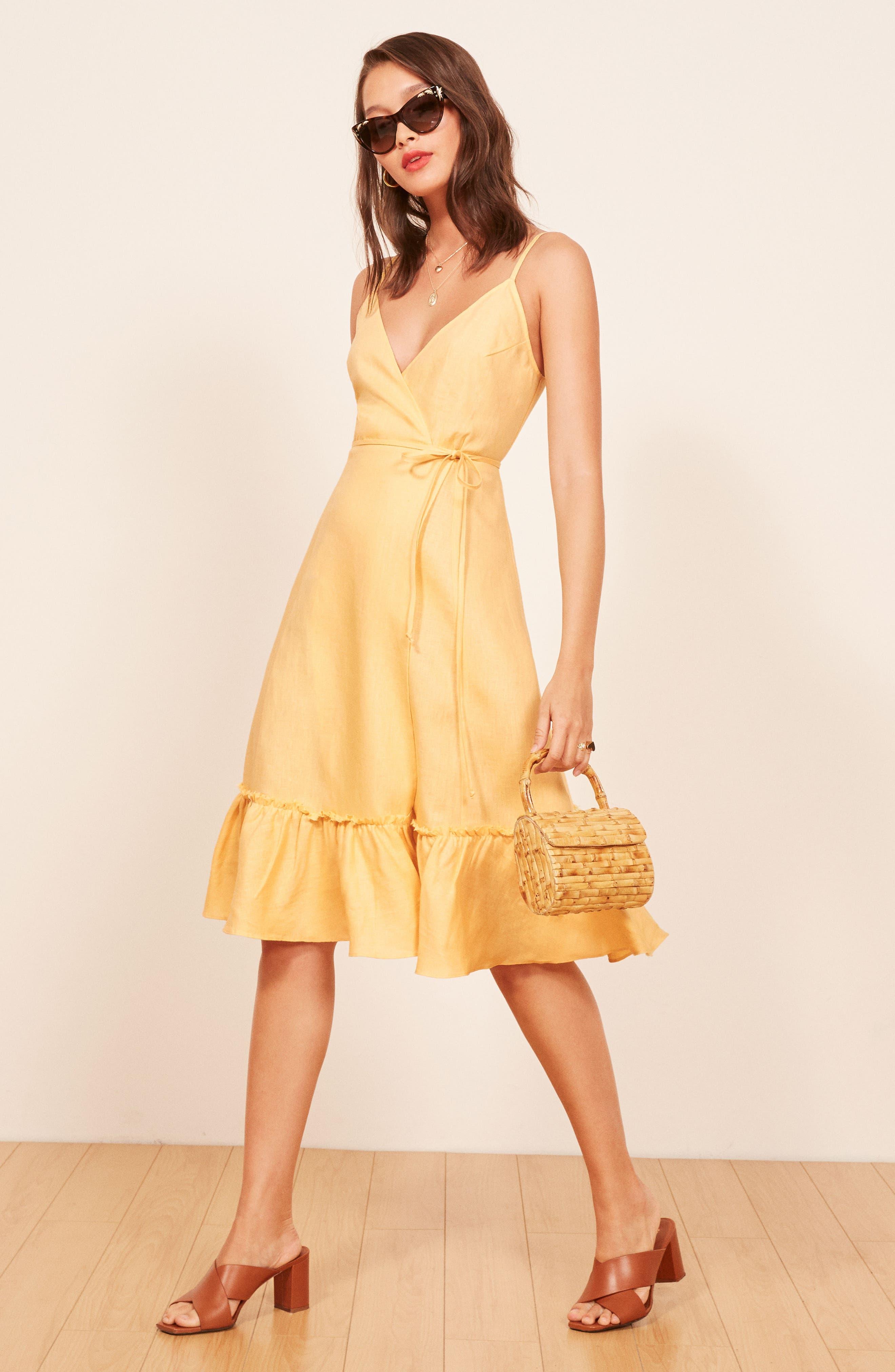 Fig Linen Wrap Dress,                             Alternate thumbnail 6, color,                             700