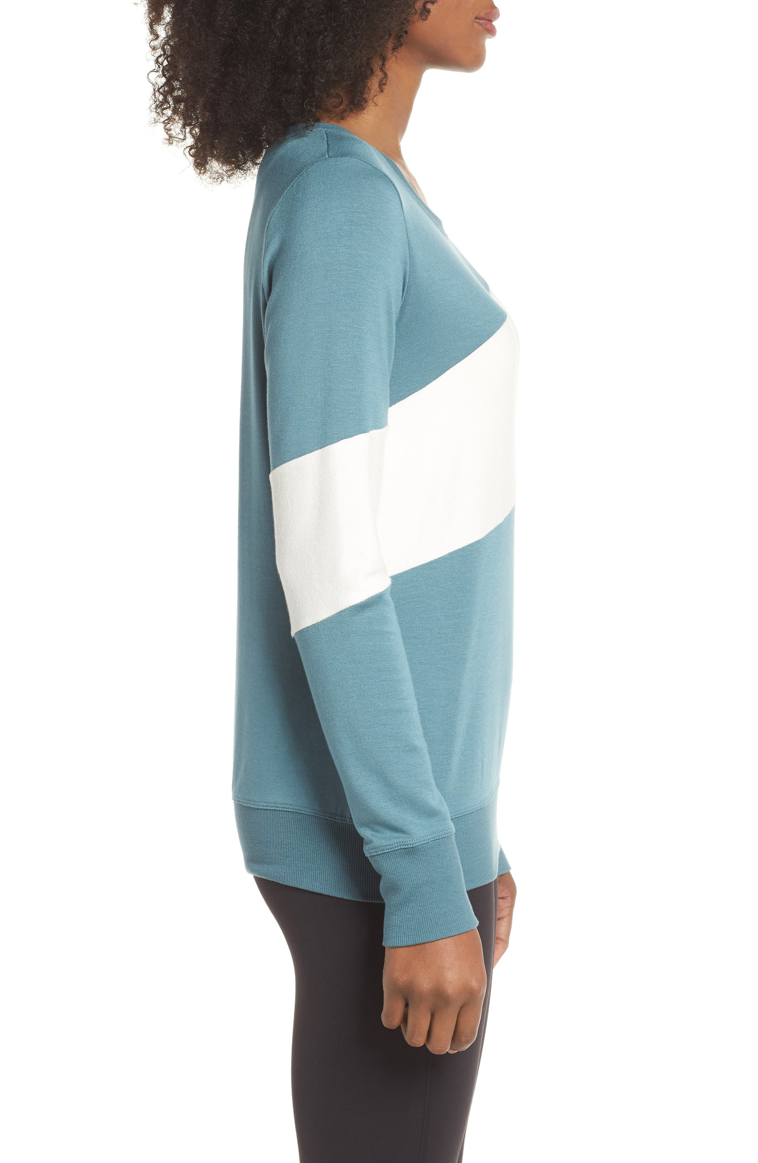 Ramp Sweatshirt,                             Alternate thumbnail 3, color,                             BLUE SURF/ OFF WHITE