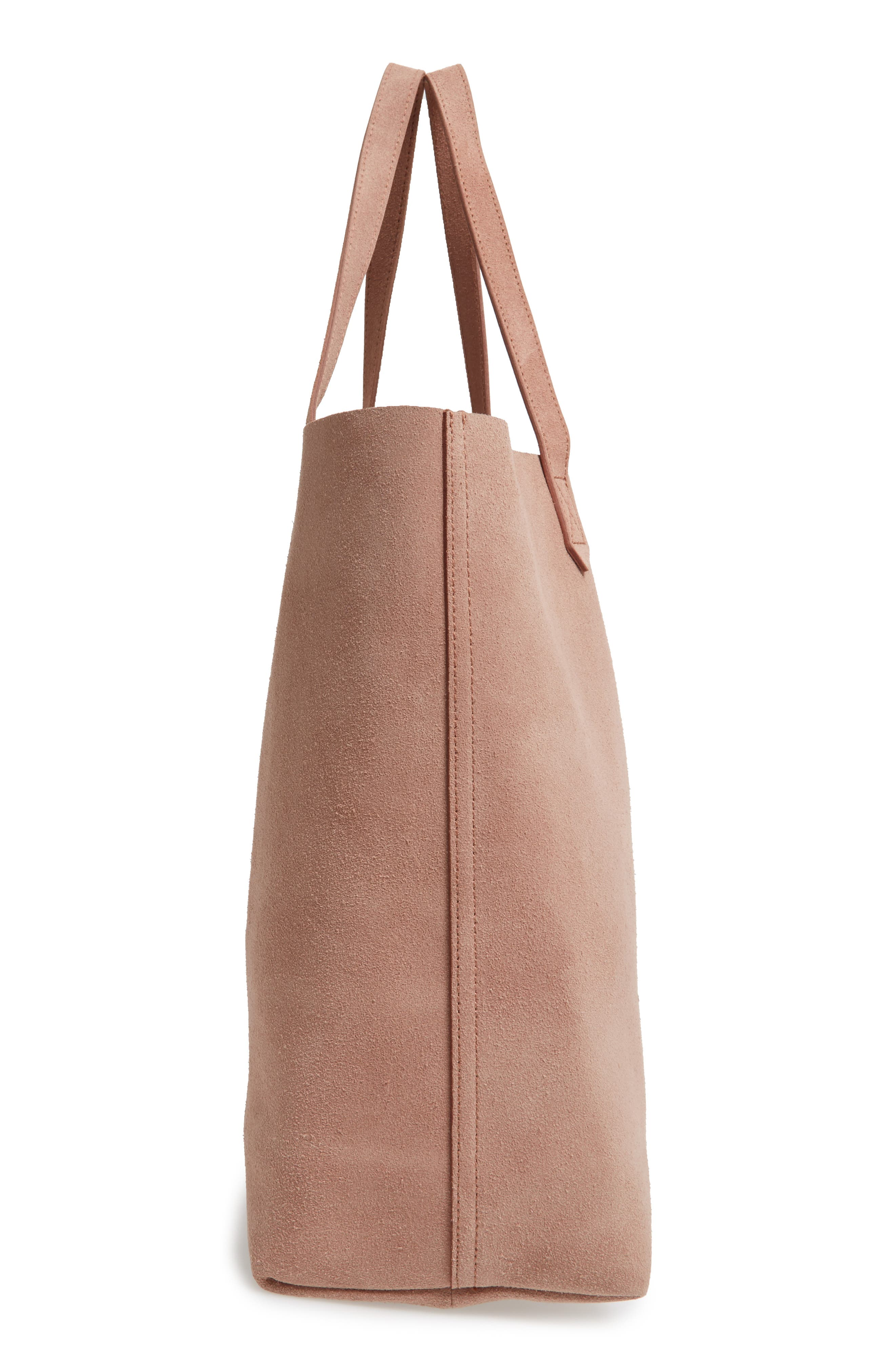 Suede Transport Tote,                             Alternate thumbnail 6, color,                             250