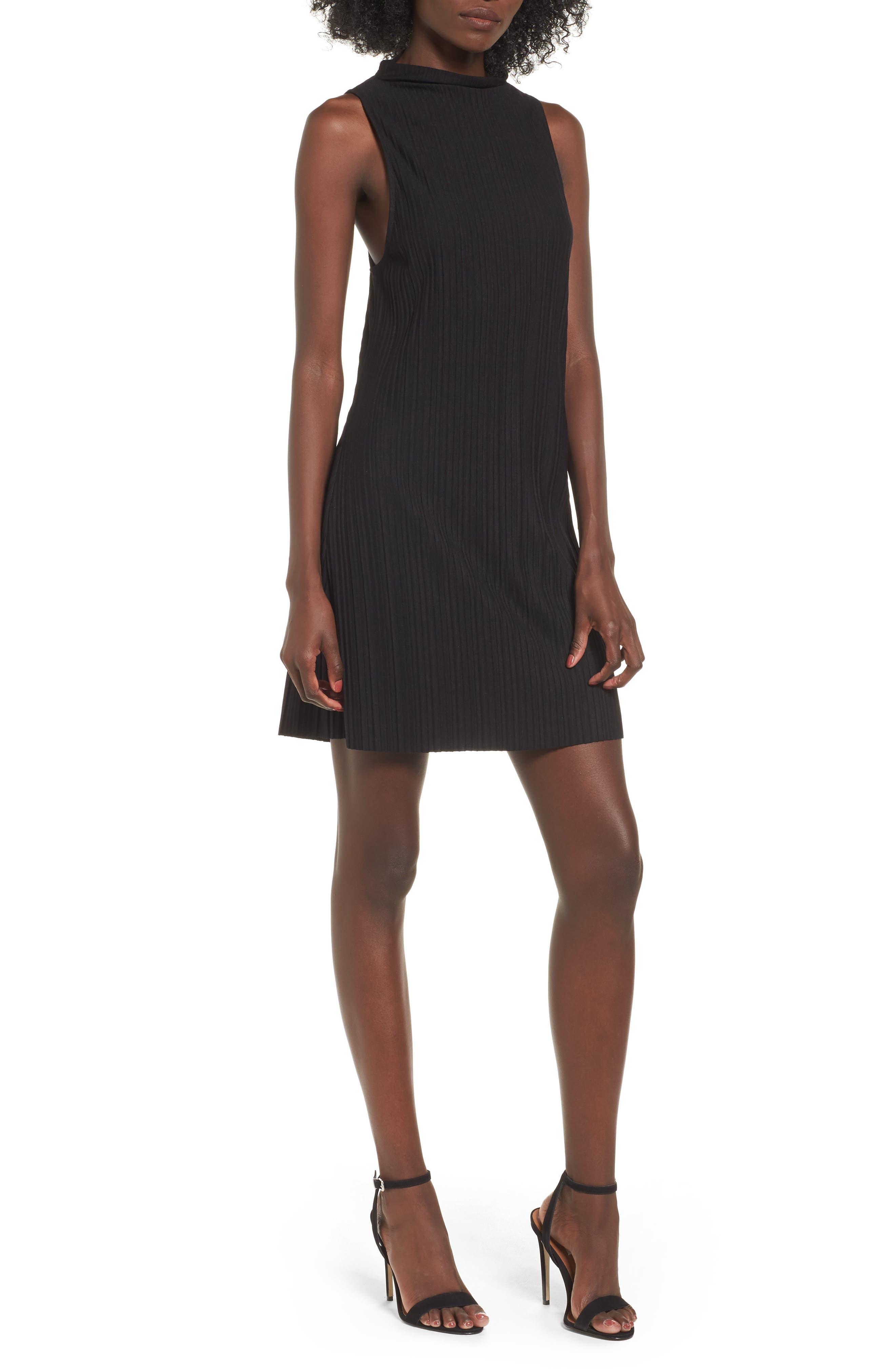 Plissé Pleat Shift Dress,                         Main,                         color, 001