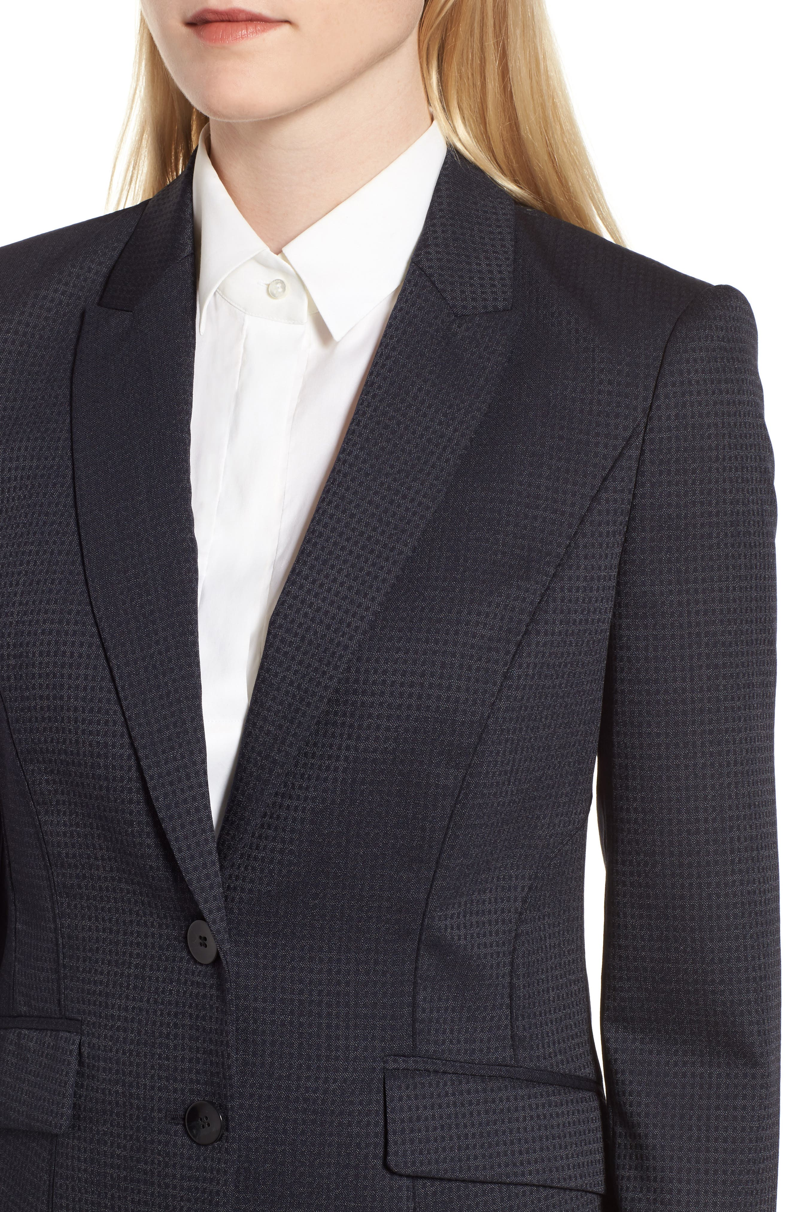 Jukani Check Wool Blend Suit Jacket,                             Alternate thumbnail 4, color,                             020