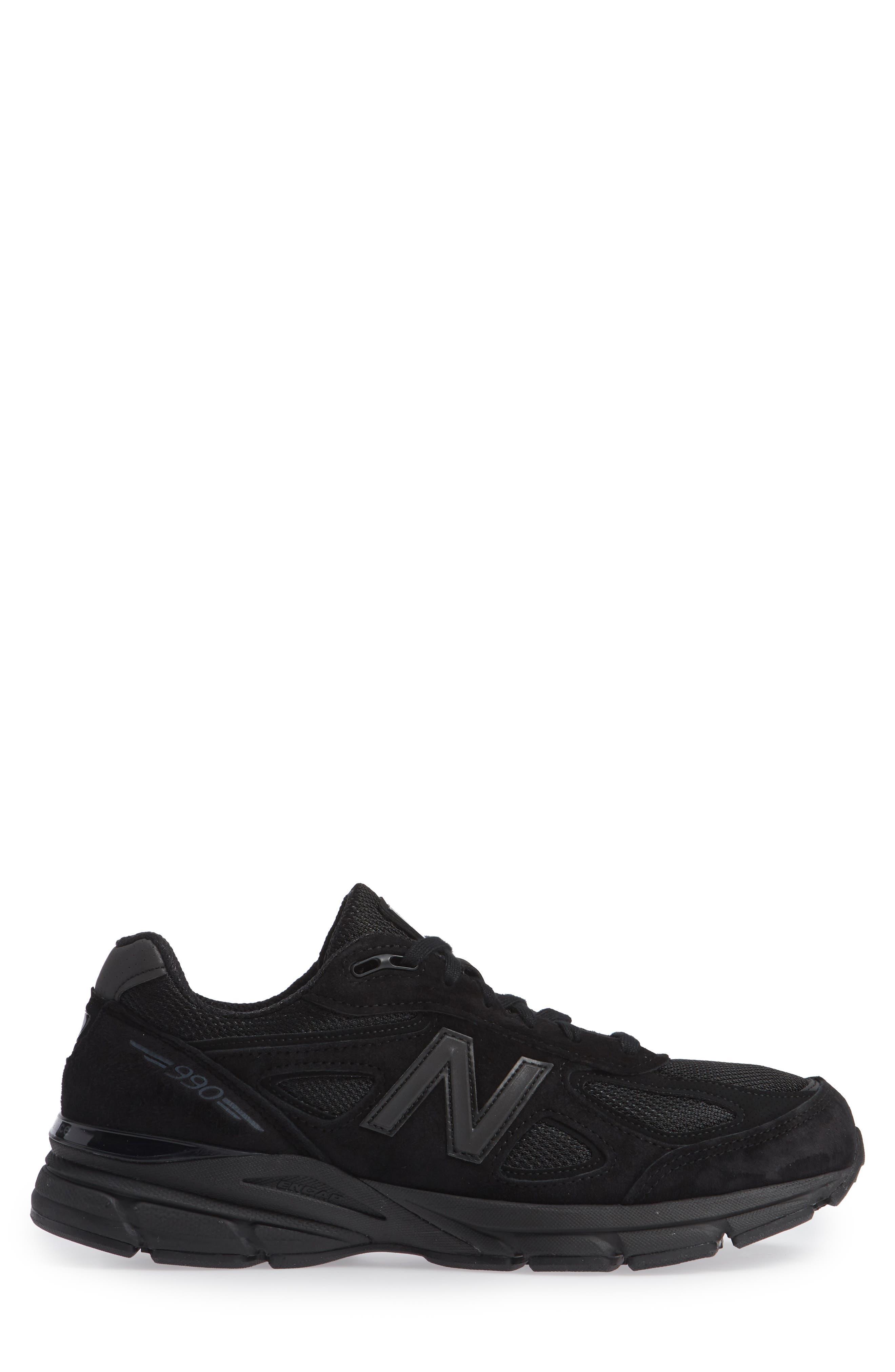 '990' Running Shoe,                             Alternate thumbnail 3, color,                             BLACK/BLACk