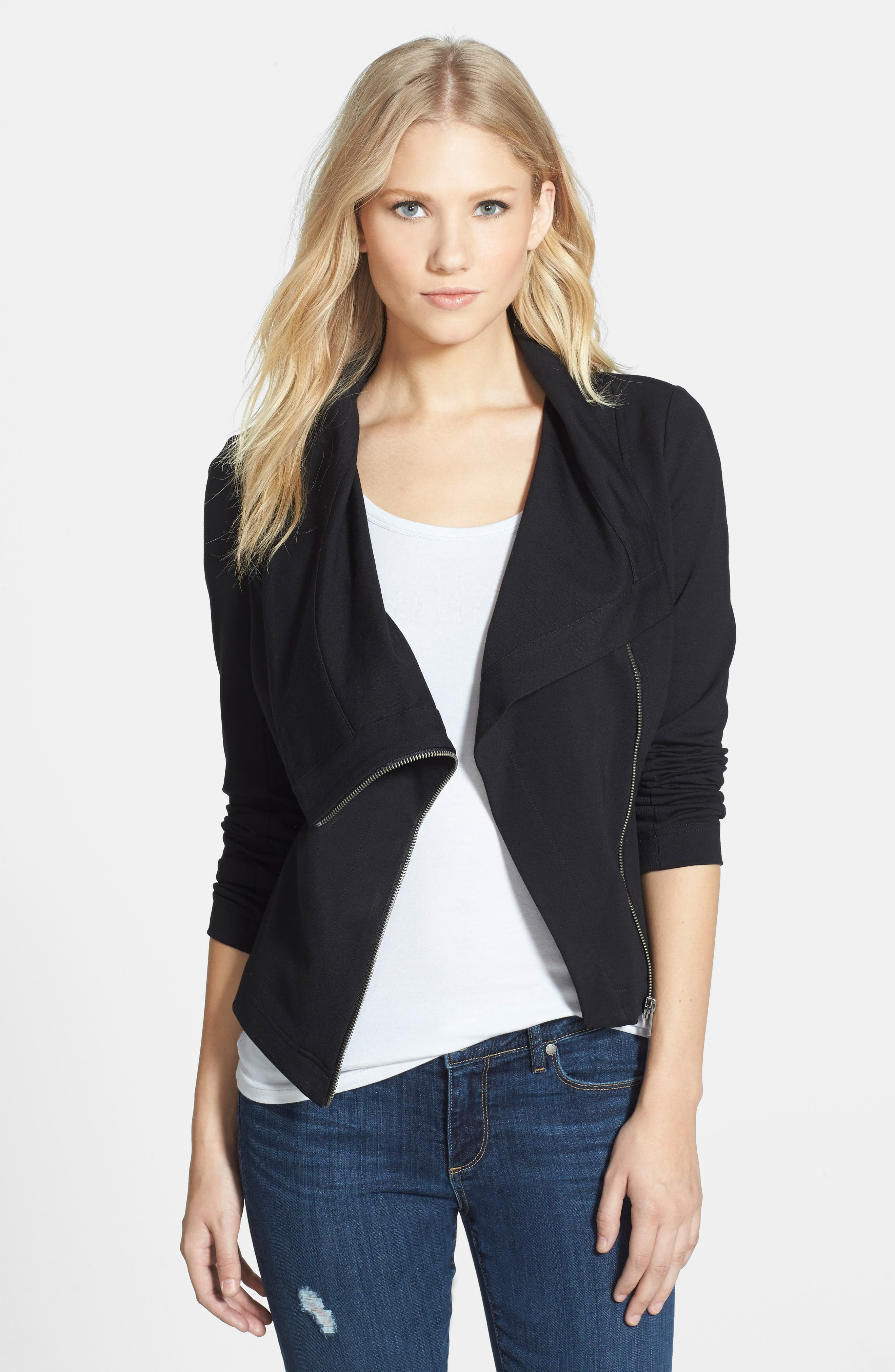 Two by Vince Camuto Ponte Moto Jacket,                             Alternate thumbnail 9, color,                             006