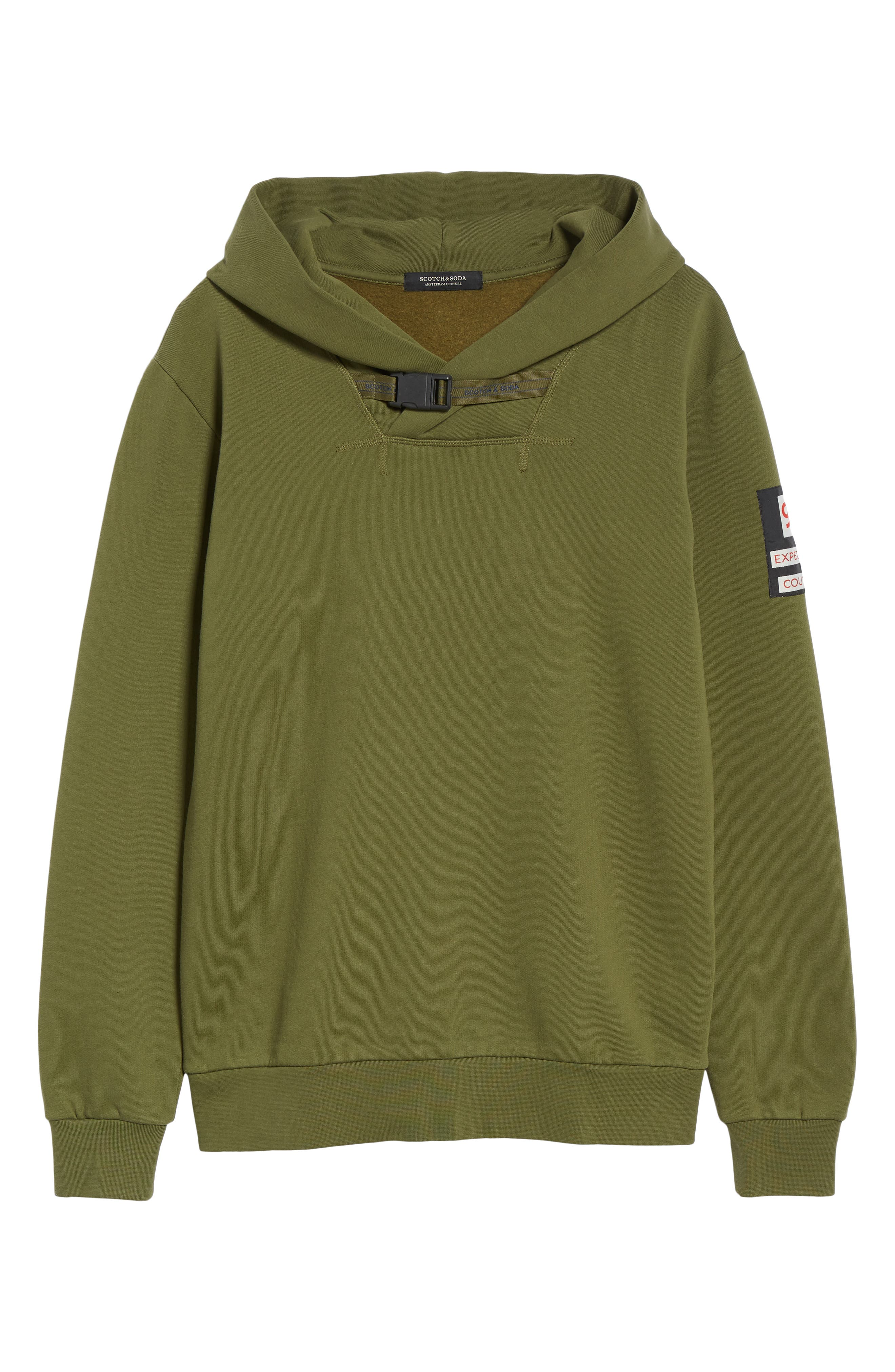 Explorer Clip Buckle Hooded Pullover,                             Alternate thumbnail 6, color,                             COMBO C