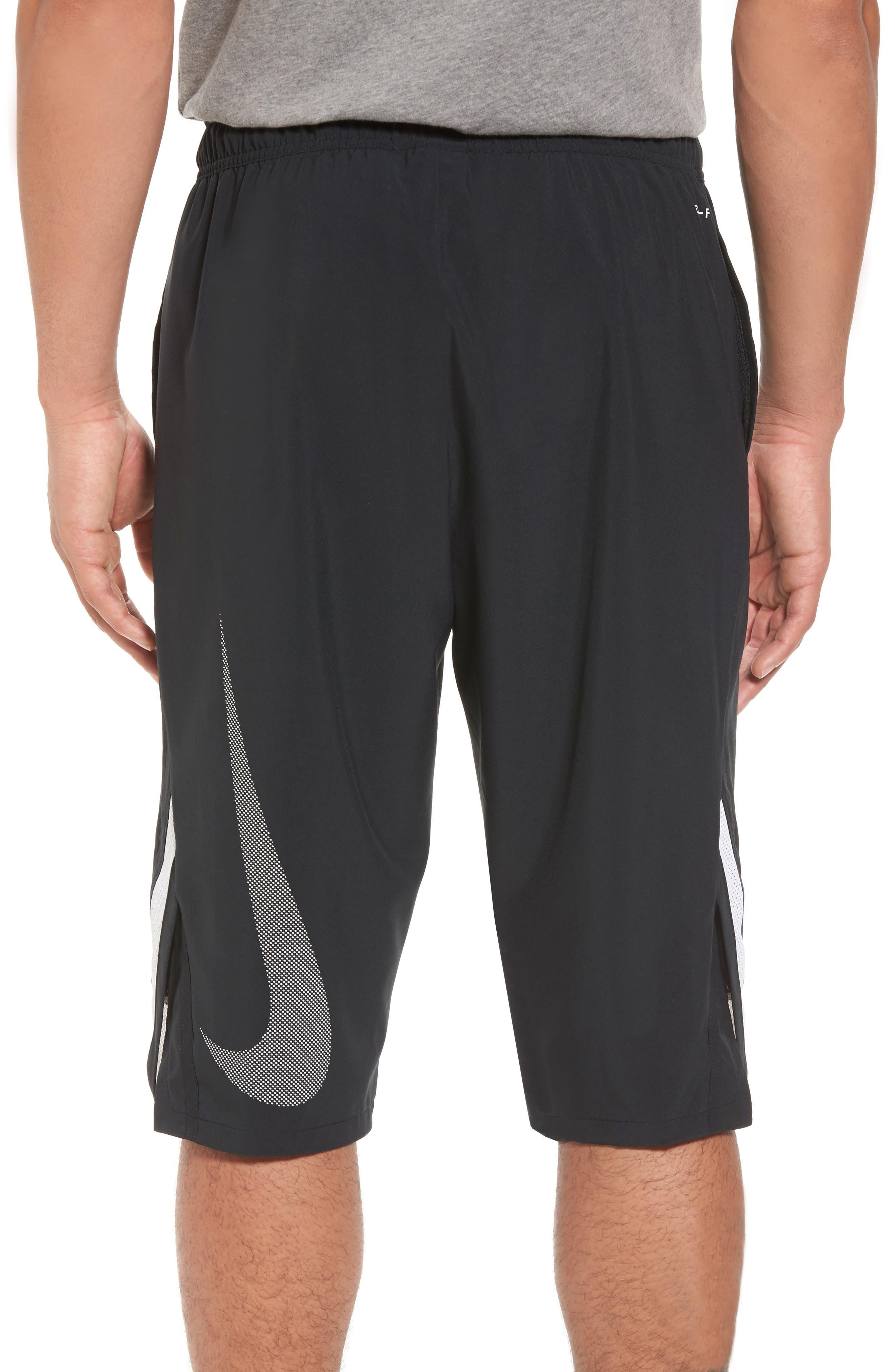 Training Flex PX Shorts,                             Alternate thumbnail 2, color,                             BLACK/ WHITE/ WHITE