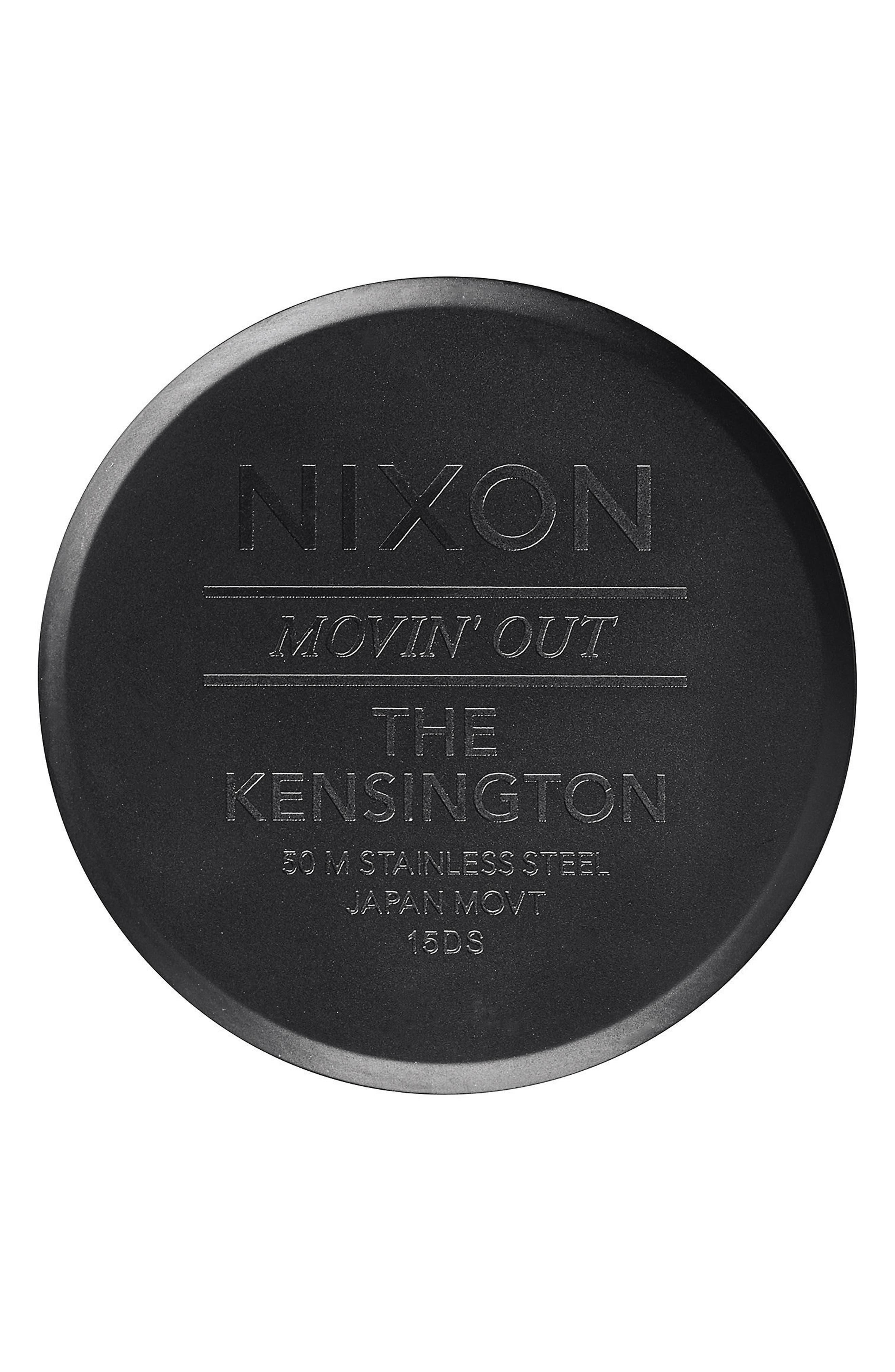 'The Kensington' Bracelet Watch, 37mm,                             Alternate thumbnail 4, color,                             BLACK