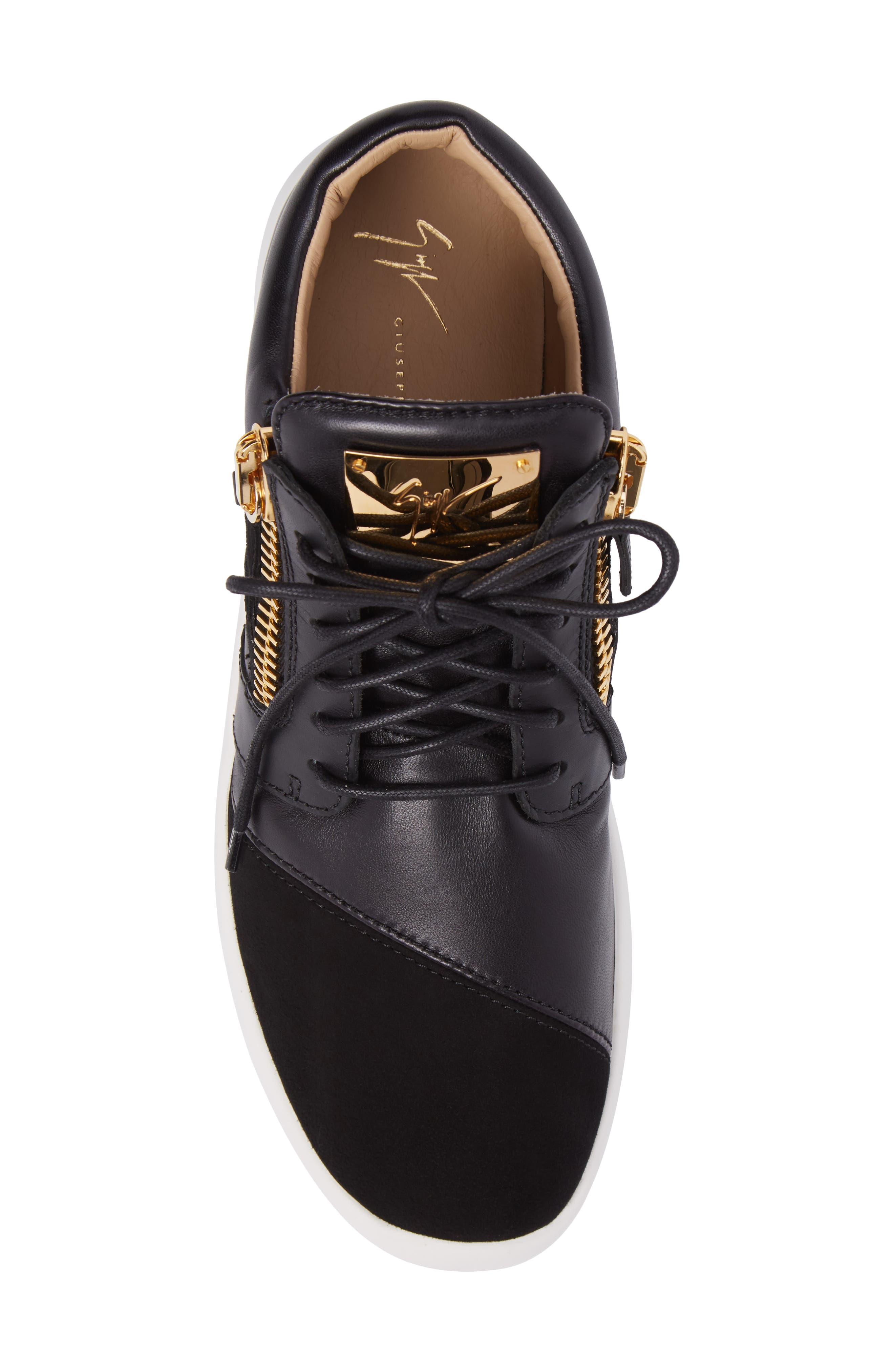 Mid-Top Sneaker,                             Alternate thumbnail 5, color,                             BLACK
