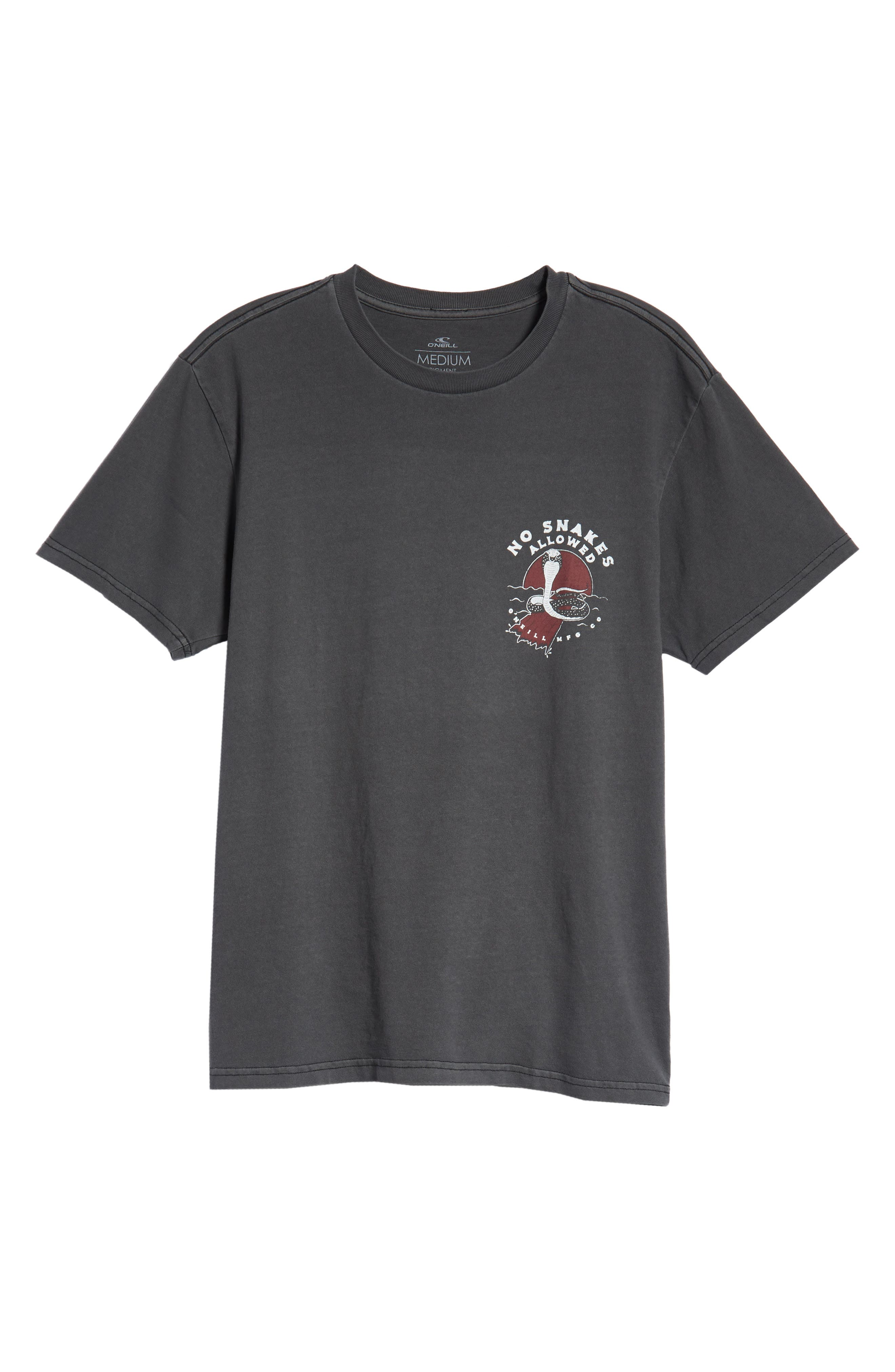 Snaked Graphic T-Shirt,                             Alternate thumbnail 6, color,                             001