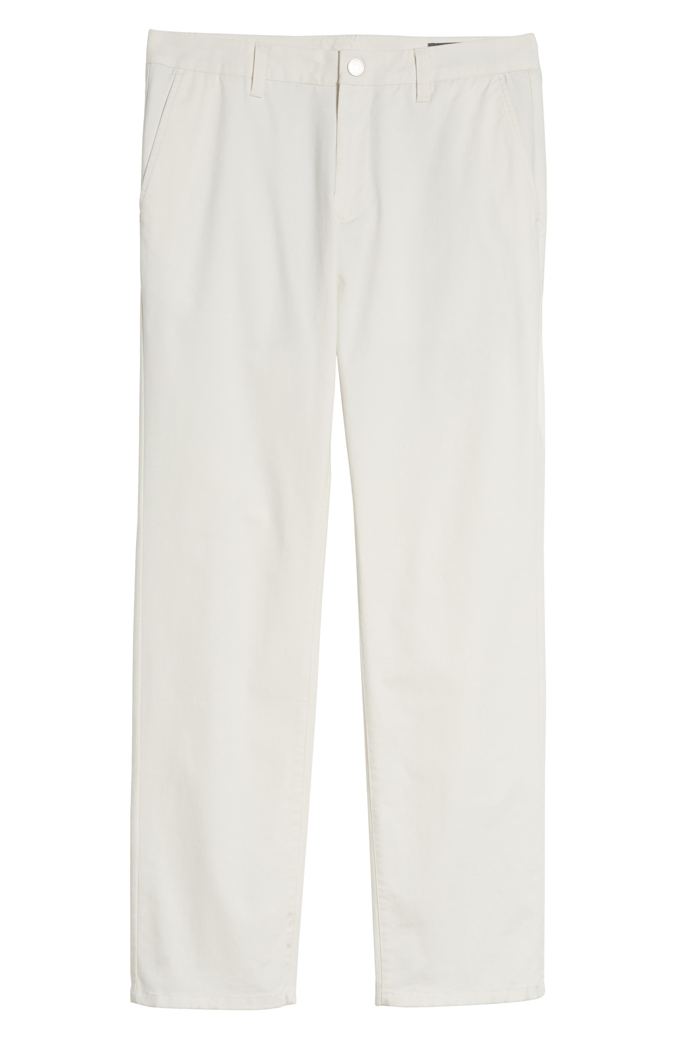 Slim Fit Stretch Washed Chinos,                             Alternate thumbnail 7, color,                             FULL SAIL OFF WHITE