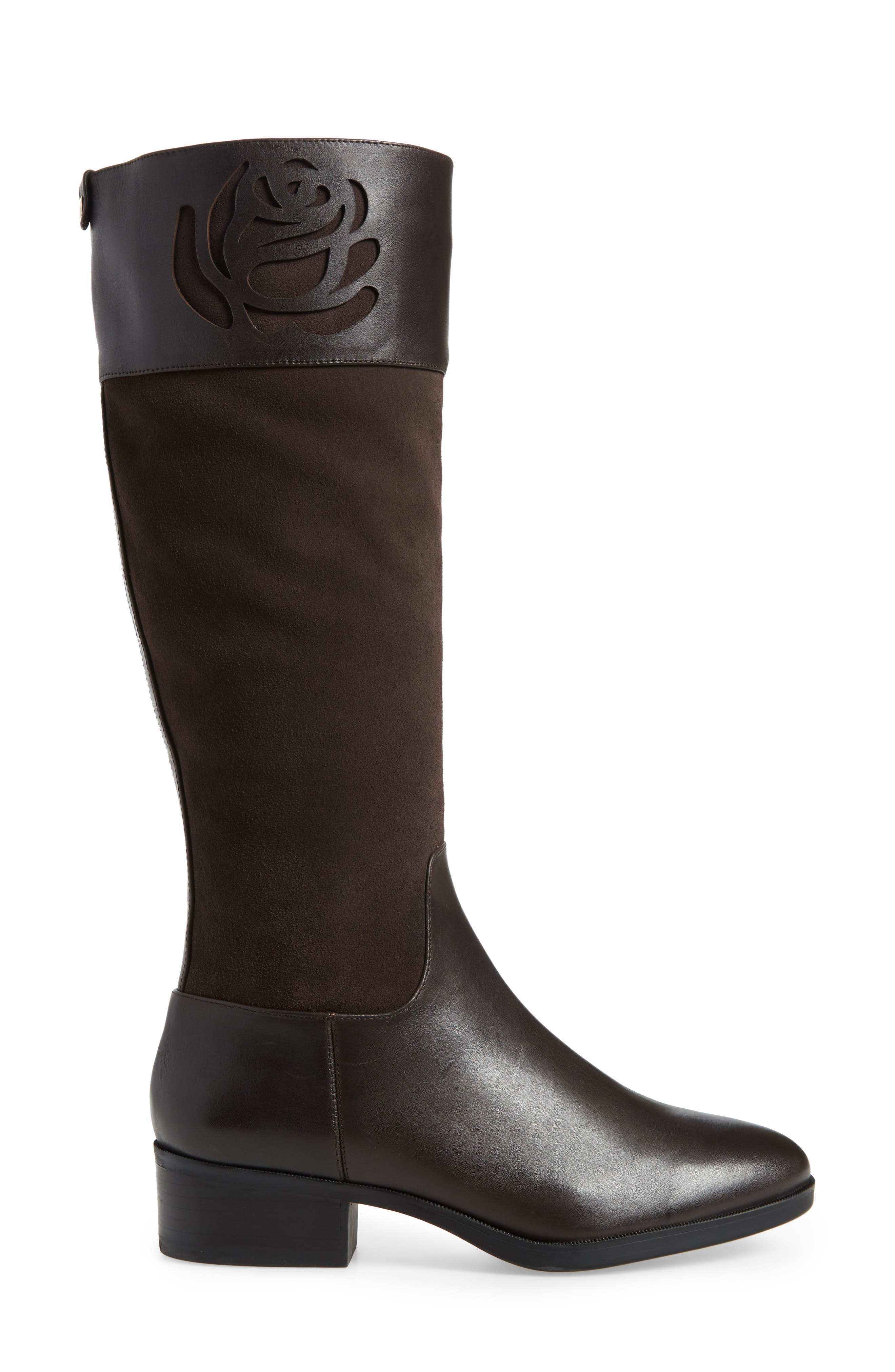 TARYN ROSE,                             Georgia Water Resistant Collection Boot,                             Alternate thumbnail 3, color,                             CHOCOLATE LEATHER/ SUEDE