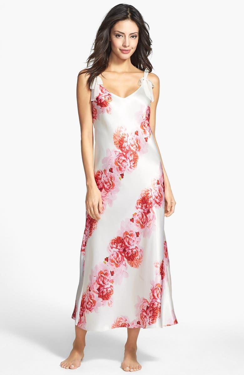 Oscar de la Renta Sleepwear  Romantic Peony  Long Nightgown  fd425a005